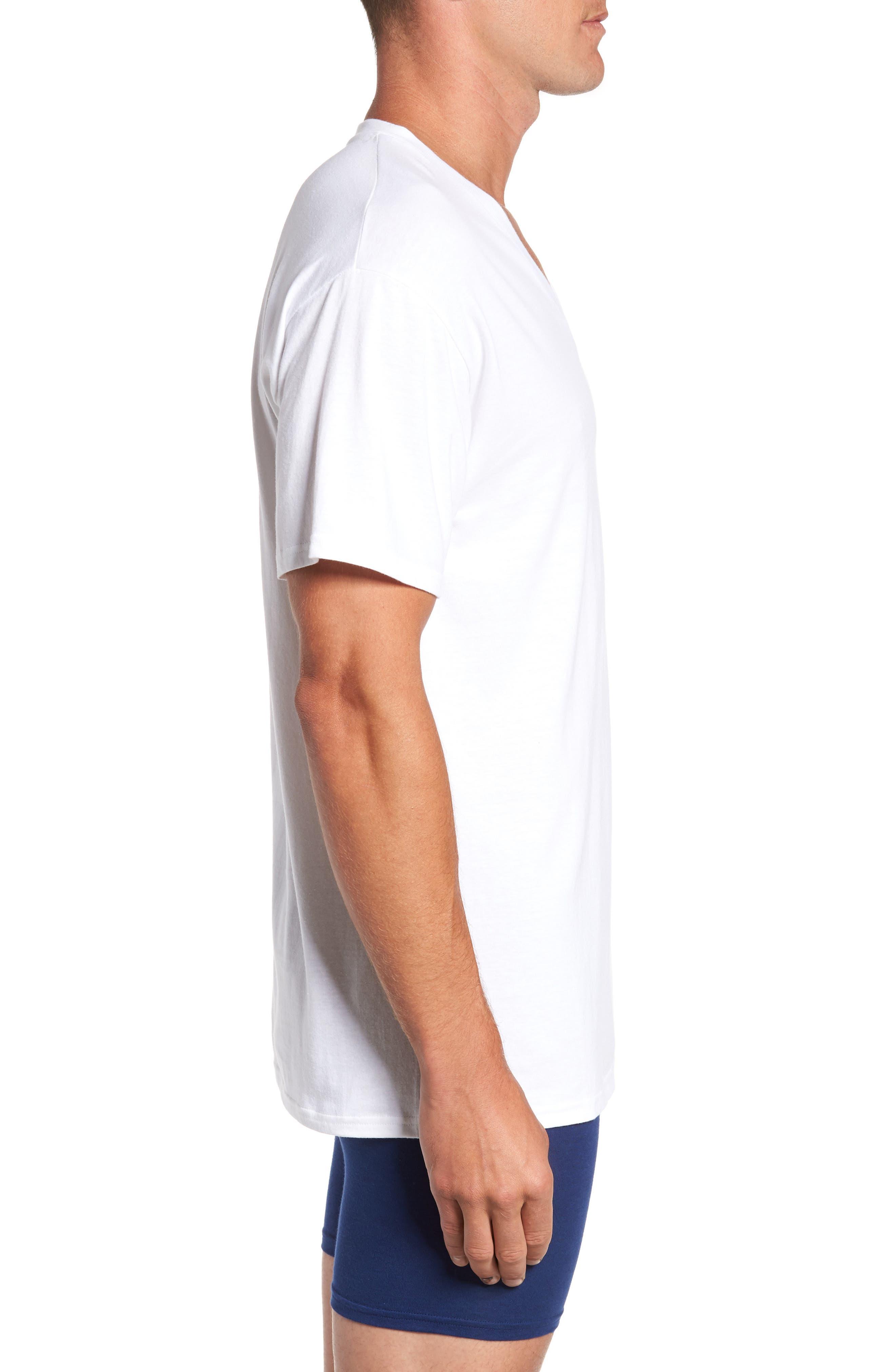 Alternate Image 4  - Hanes Luxury Essentials 3-Pack V-Neck T-Shirt
