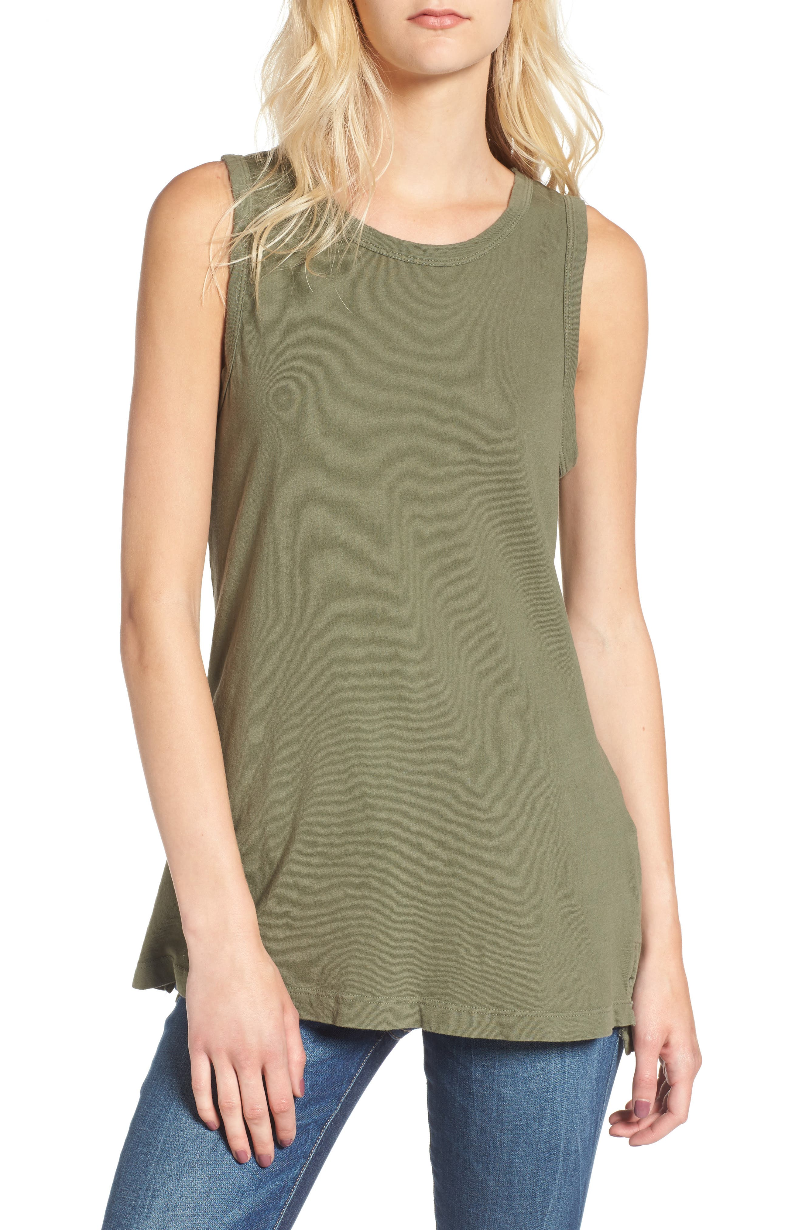 'The Muscle Tee' Tank,                         Main,                         color, Army