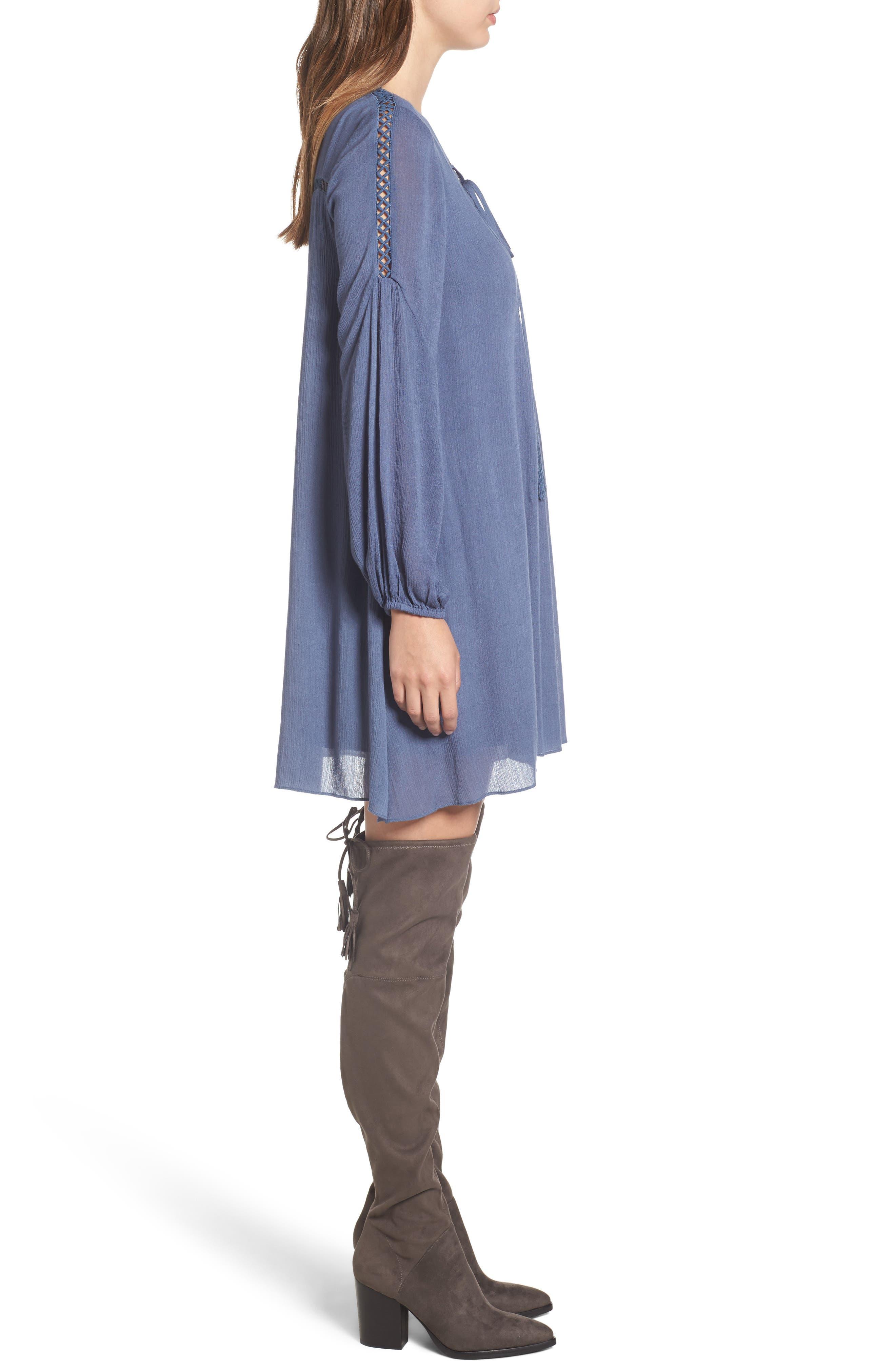 Alternate Image 3  - Lost + Wander Julia Lace-Up Swing Dress