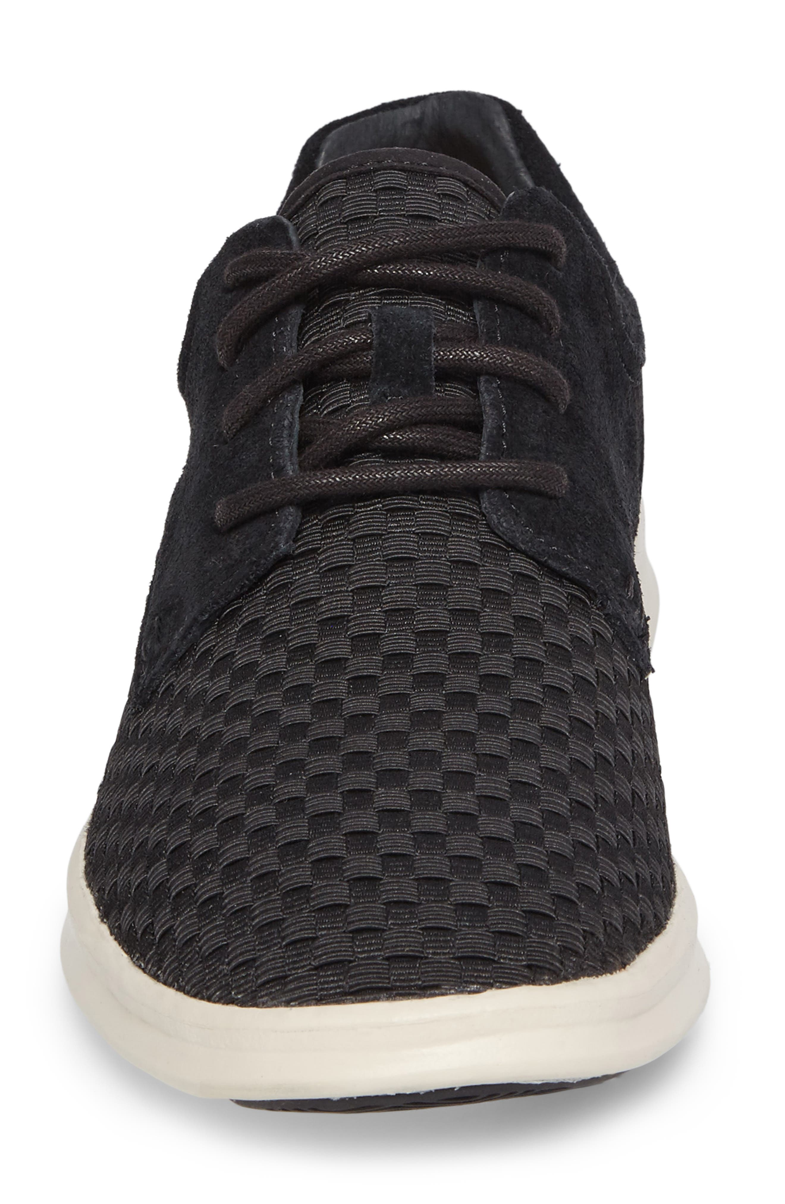 'Hepner' Woven Sneaker,                             Alternate thumbnail 4, color,                             Blk