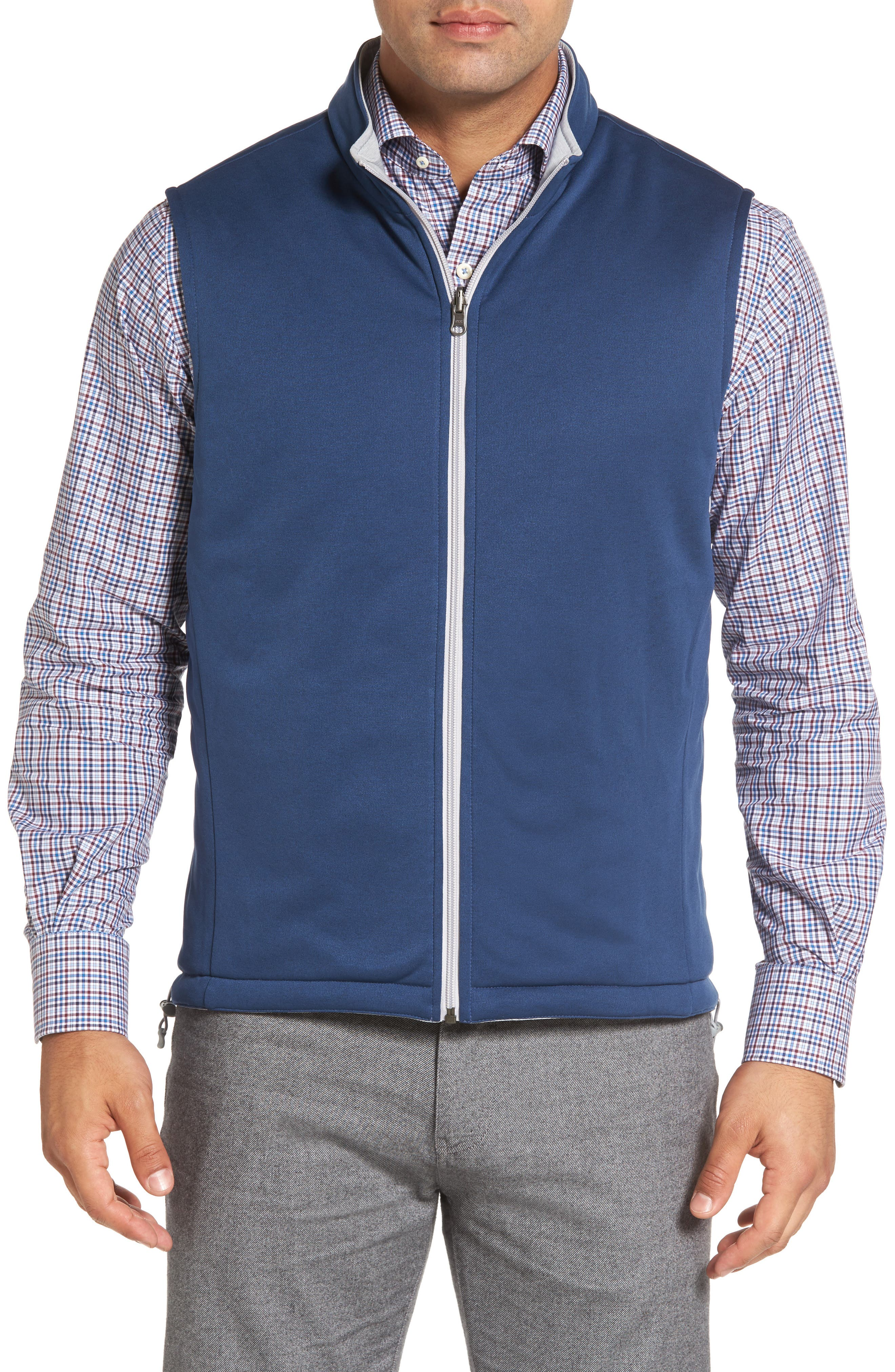 Mitchell Reversible Quilted Vest,                             Alternate thumbnail 4, color,                             British Grey