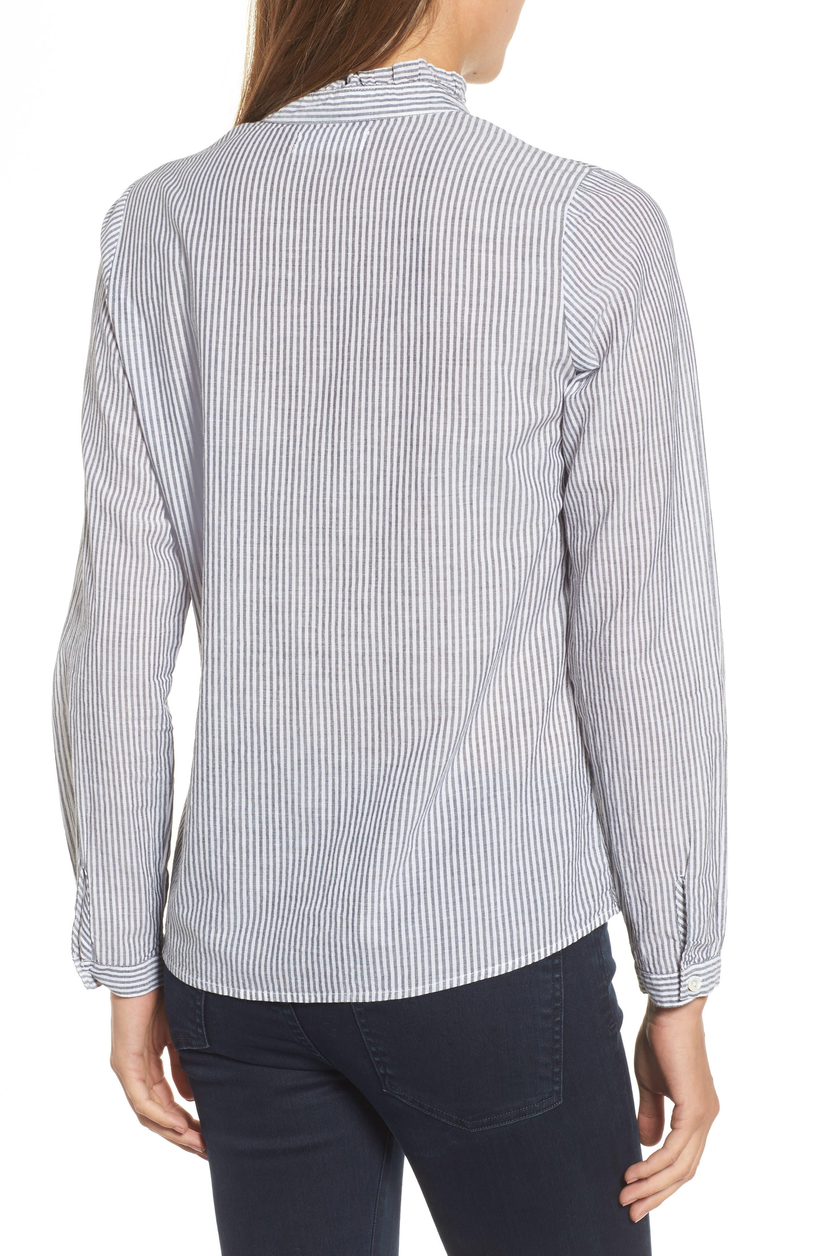 Alternate Image 2  - Velvet Embroidered Stripe Shirt