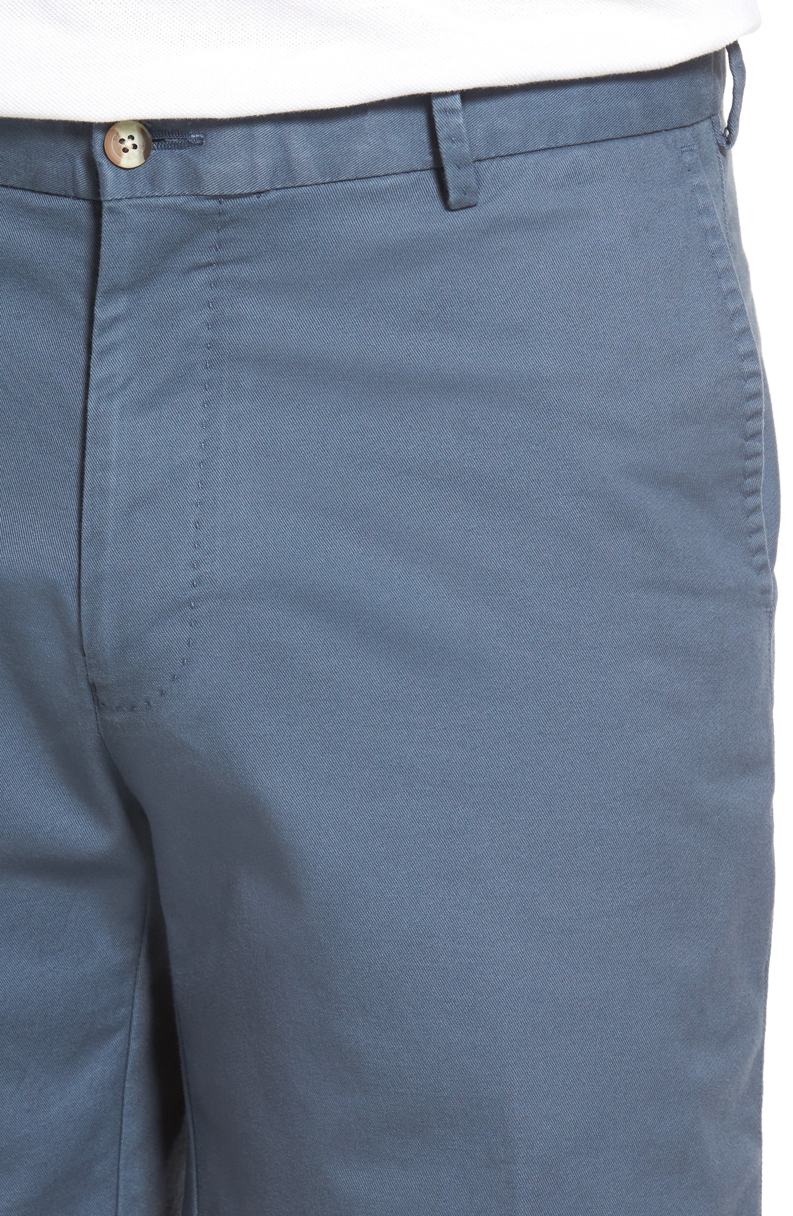 Soft Touch Stretch Twill Shorts,                             Alternate thumbnail 4, color,                             Navy