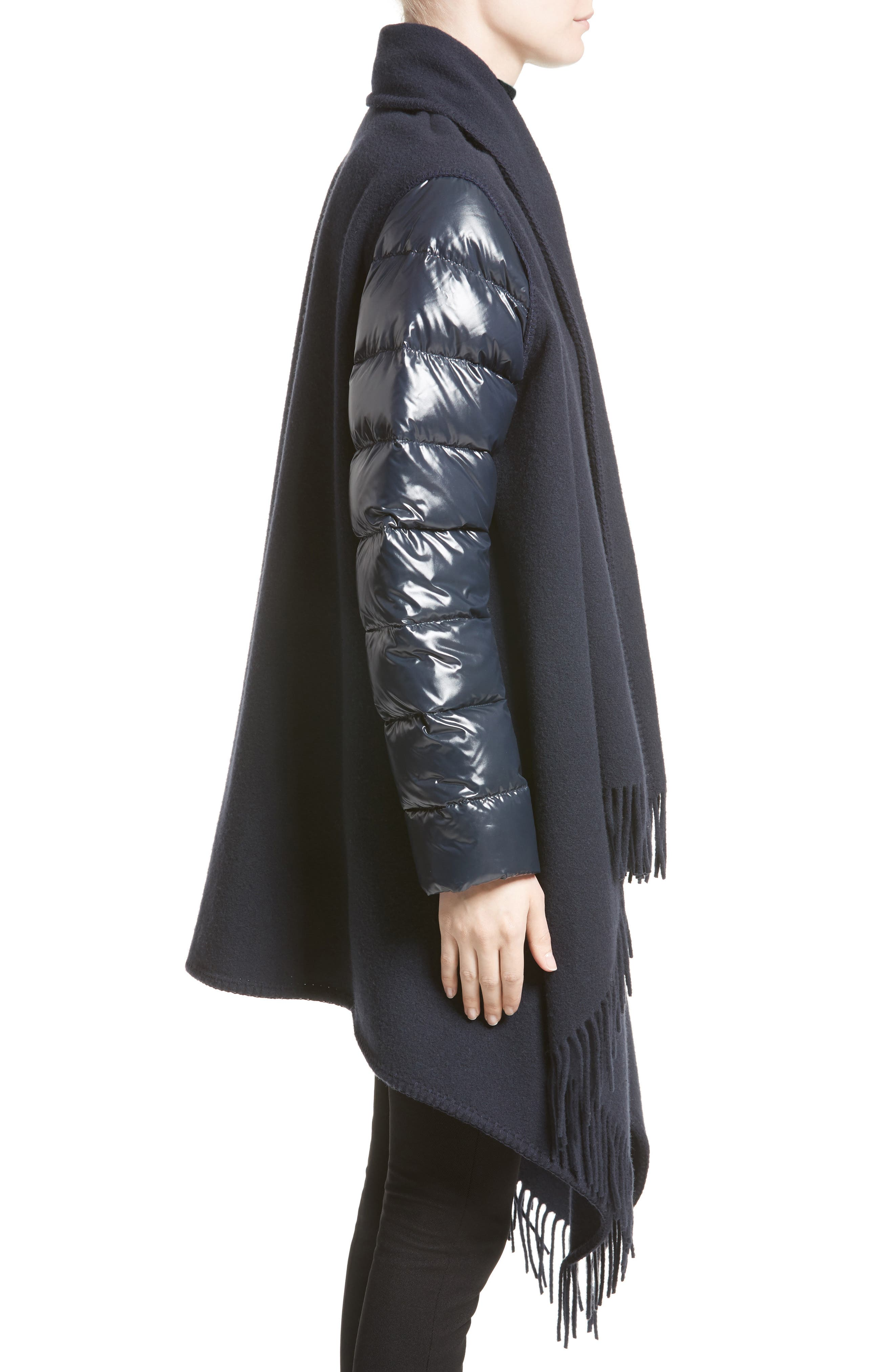 Alternate Image 3  - Moncler Mantella Quilted Sleeve Wrap Sweater