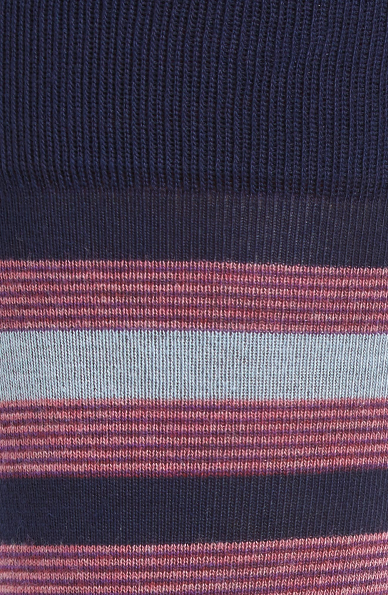 Stripe Block Socks,                             Alternate thumbnail 2, color,                             Navy