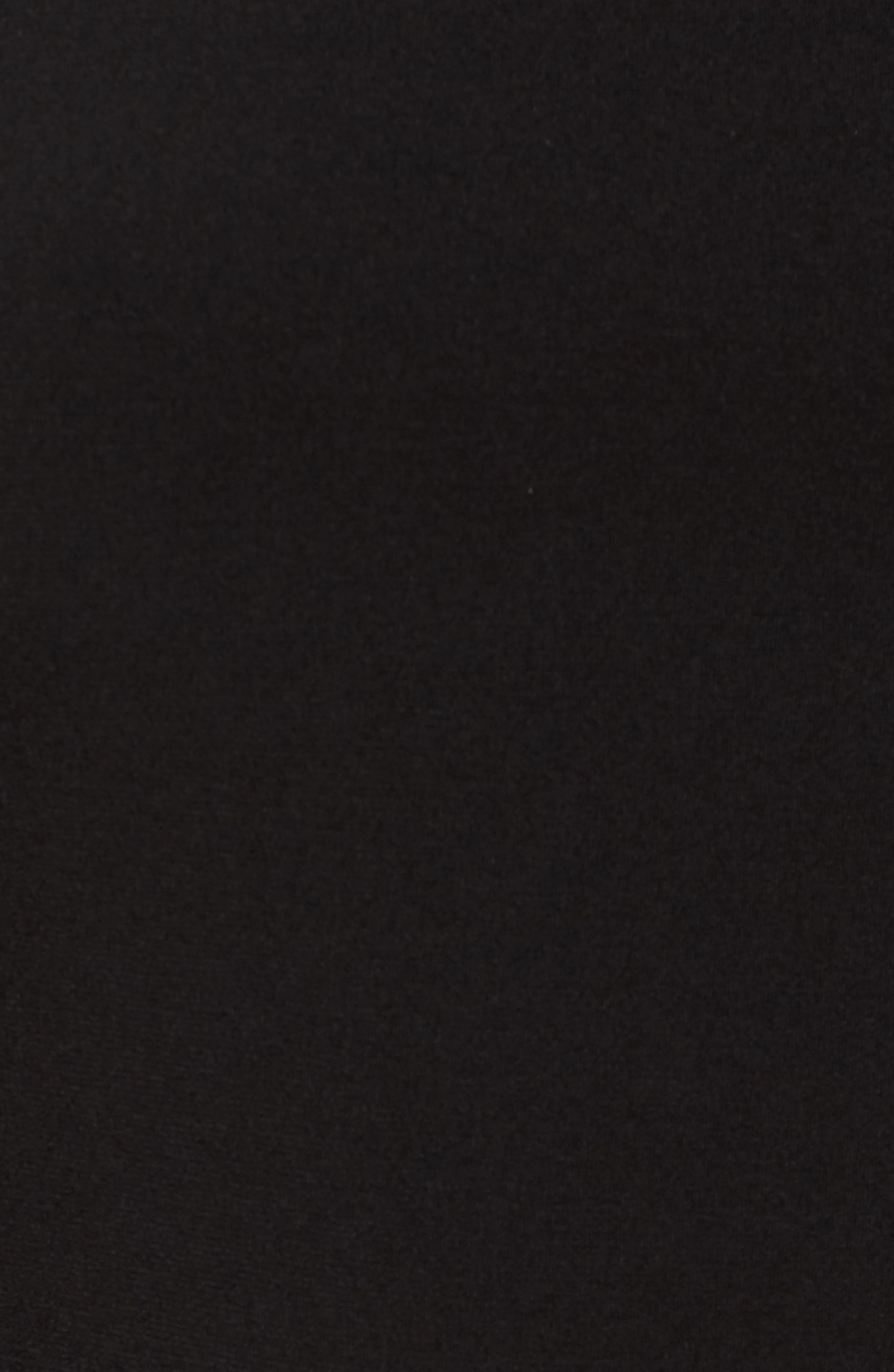 Grommet Mock Neck Knit Dress,                             Alternate thumbnail 5, color,                             Black