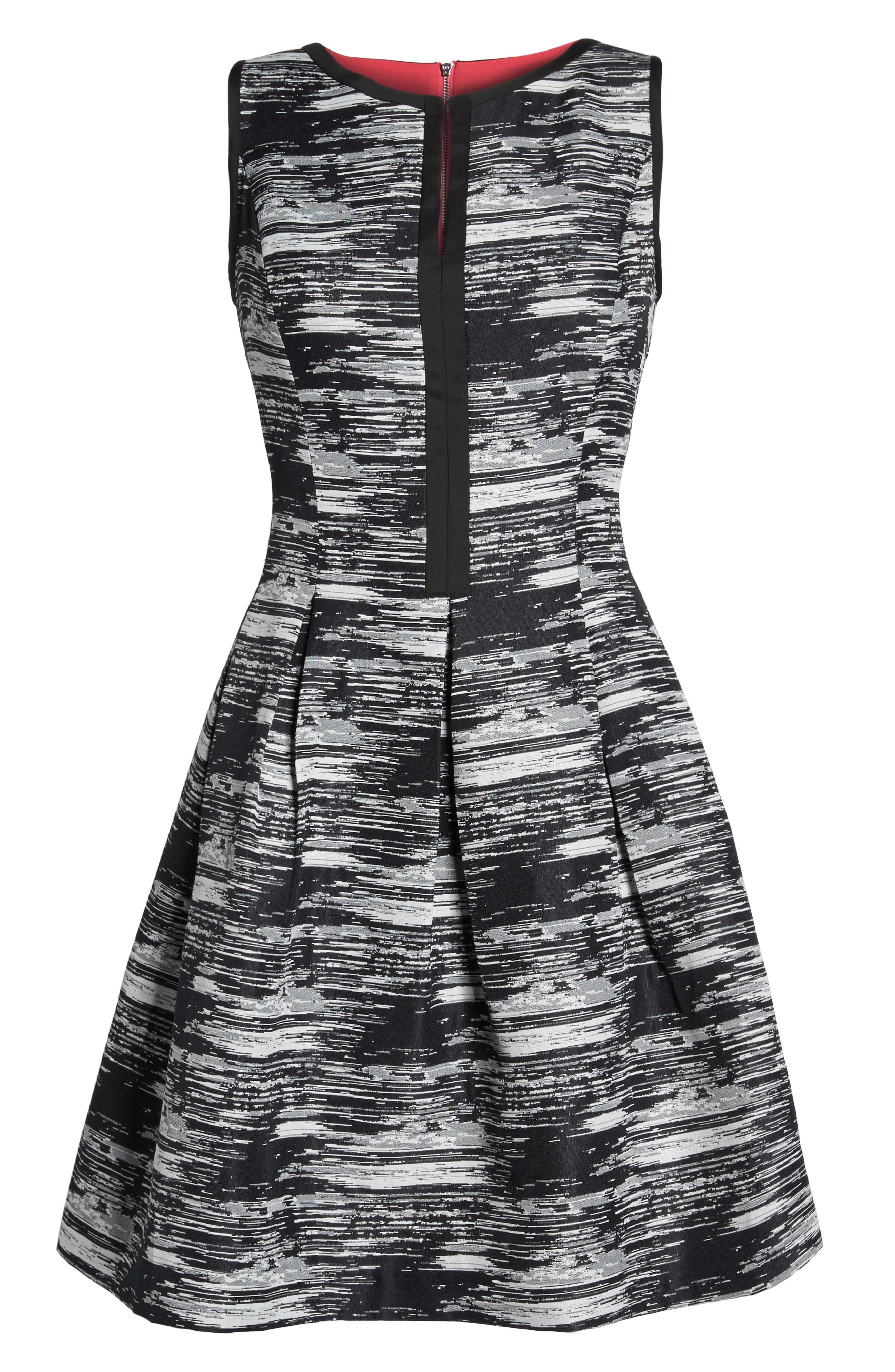 Alternate Image 6  - Vince Camuto Jacquard Fit & Flare Dress