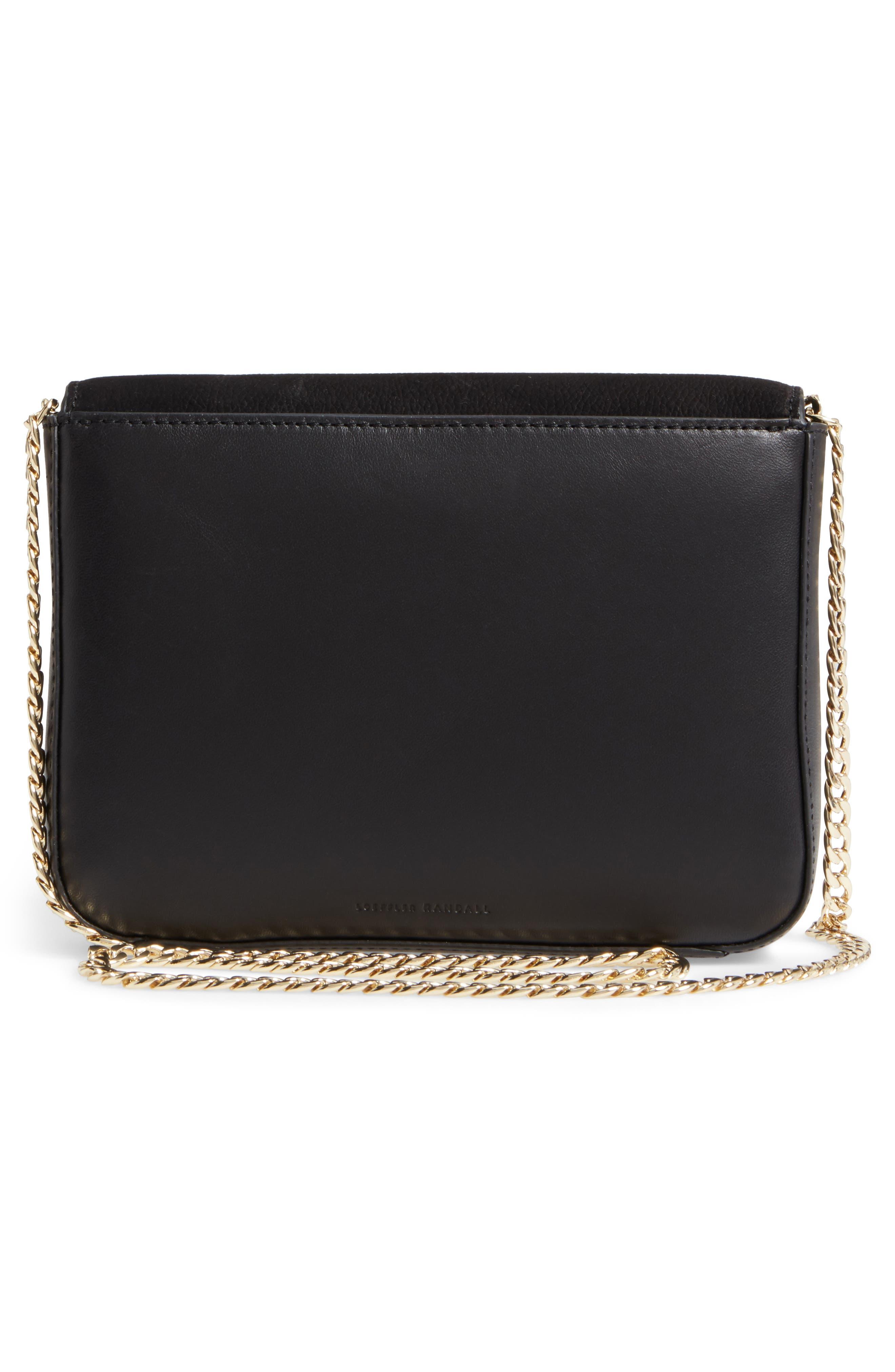 Lock Shoulder Bag,                             Alternate thumbnail 3, color,                             Black