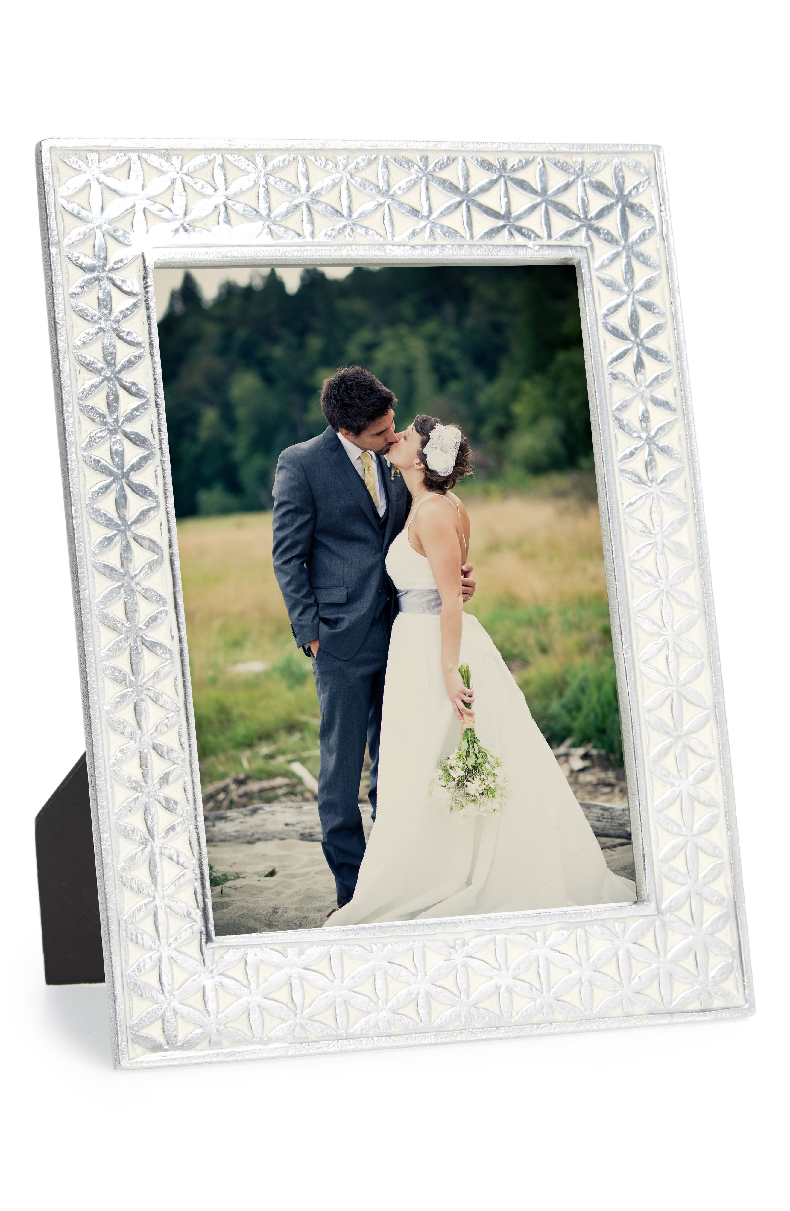 Flower of Life Picture Frame,                         Main,                         color, White