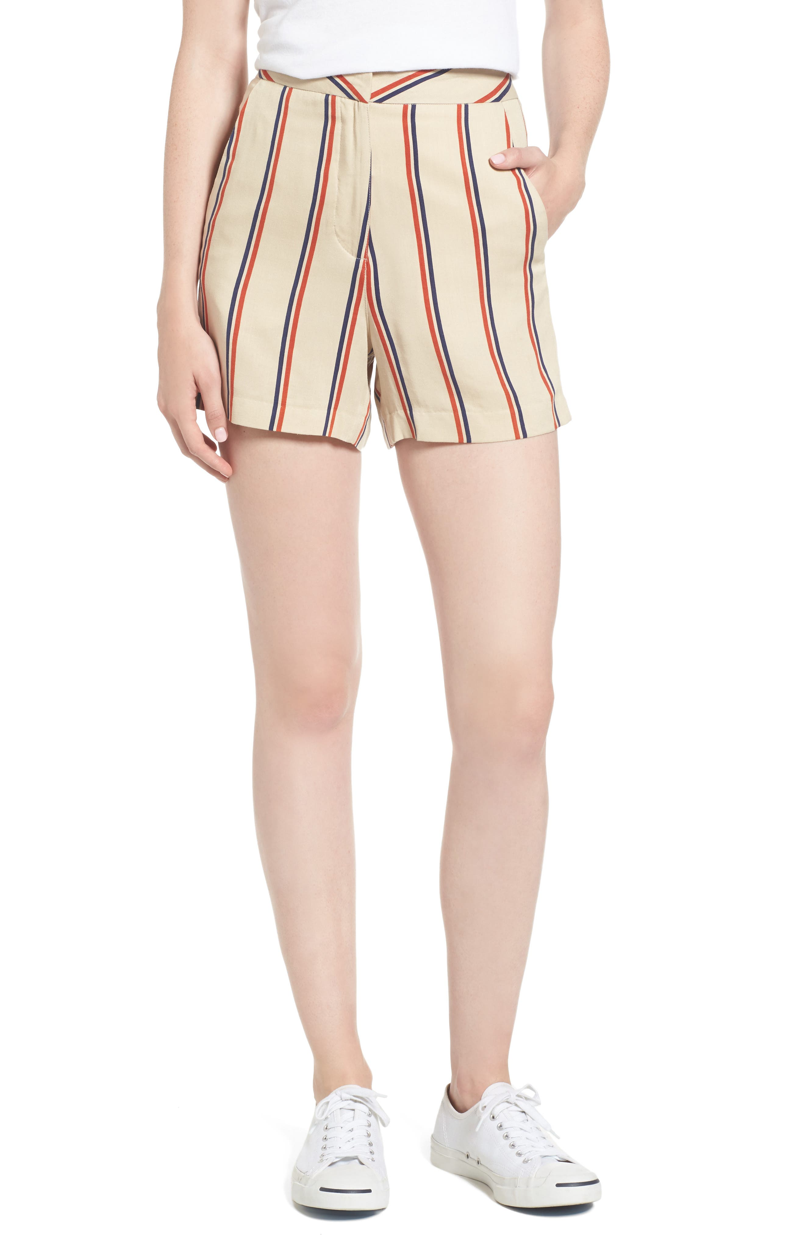 Sincerely Jules Stripe High Waist Shorts