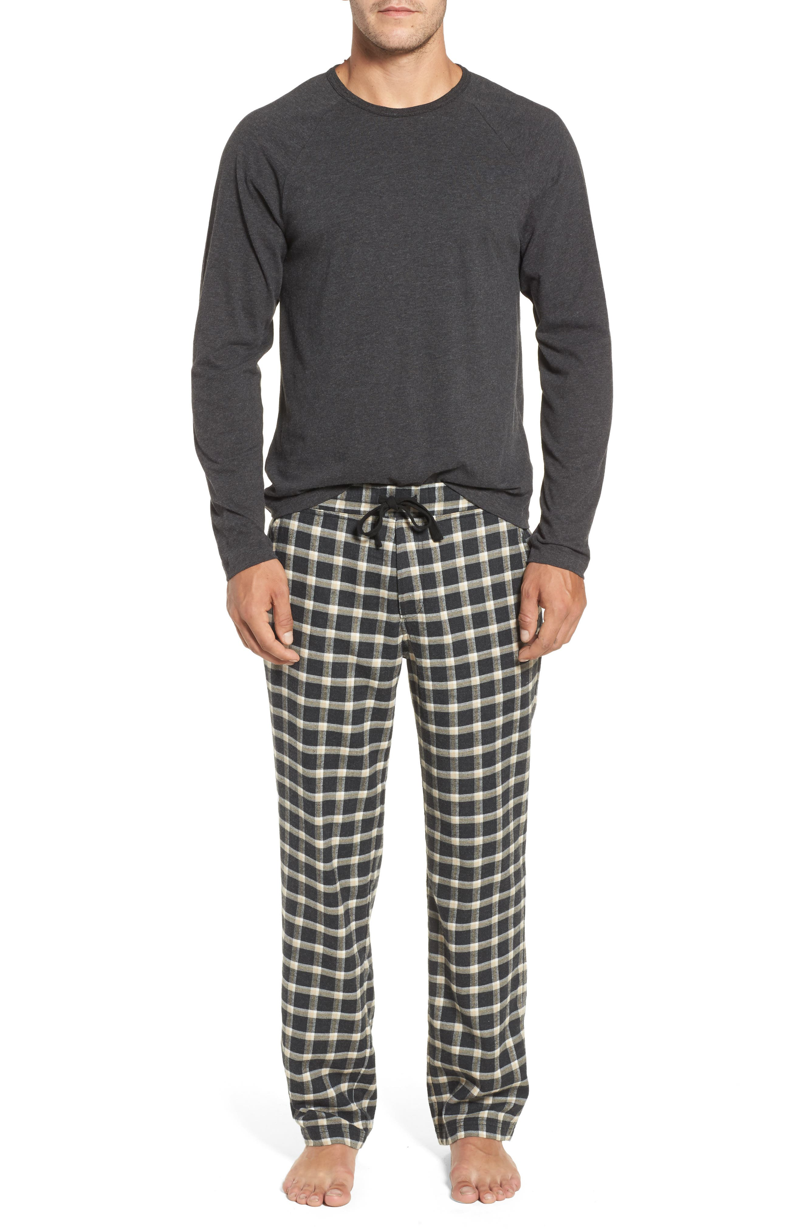 Steiner Pajama Set,                         Main,                         color, Black/ Black Bear Heather