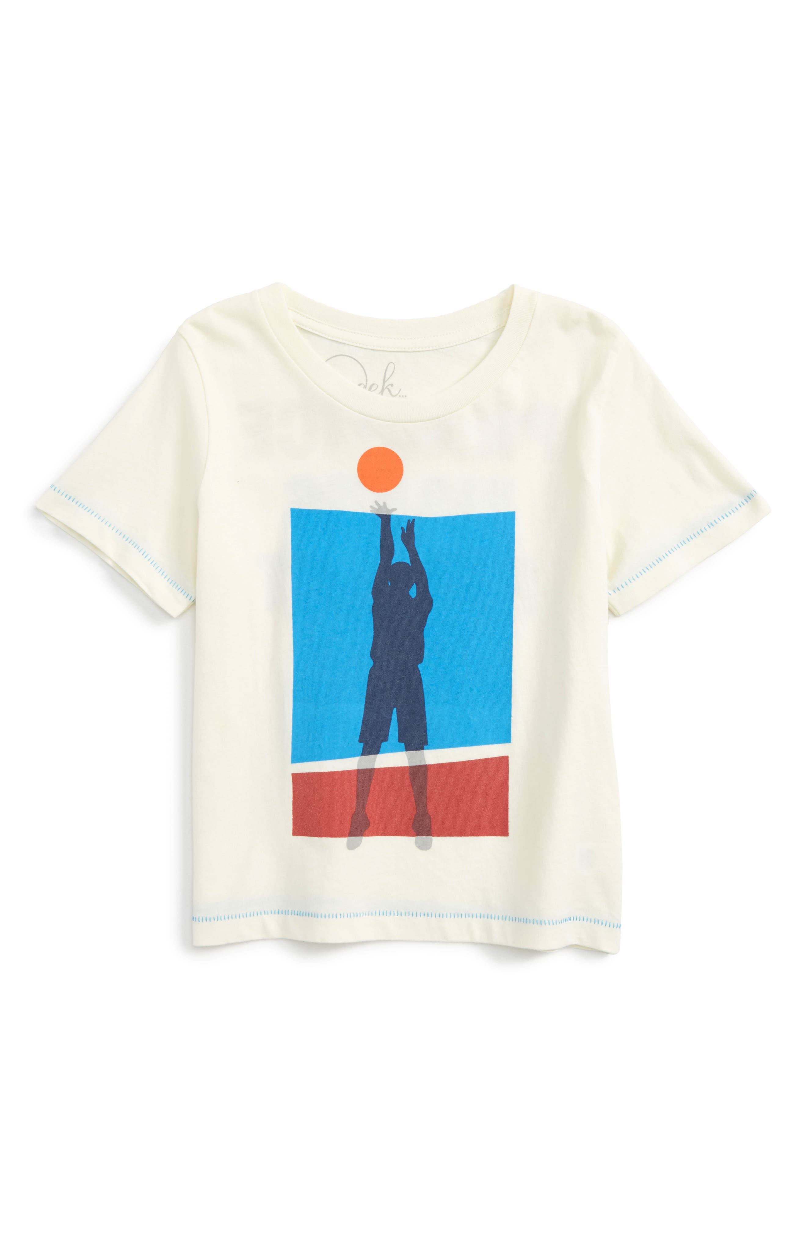 Basketball Practice T-Shirt,                         Main,                         color, Ivory