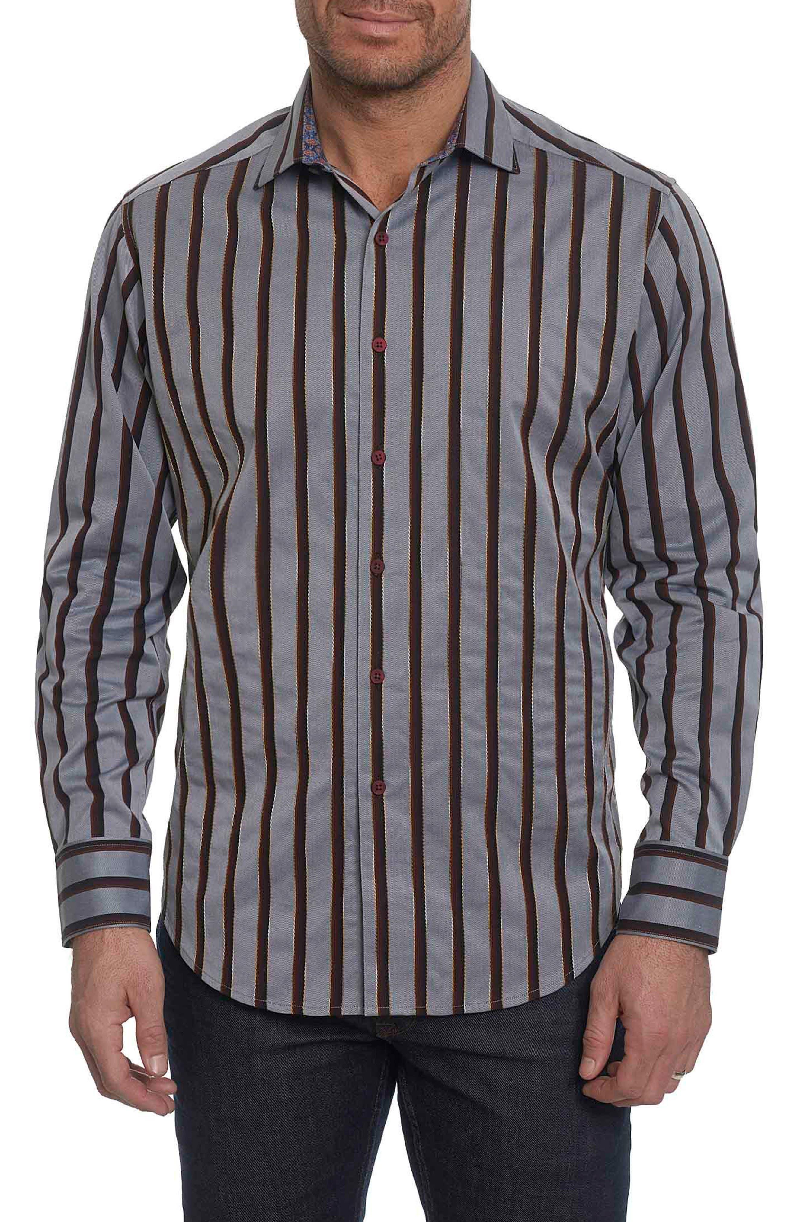 Alternate Image 1 Selected - Robert Graham Baltica Classic Fit Stripe Sport Shirt