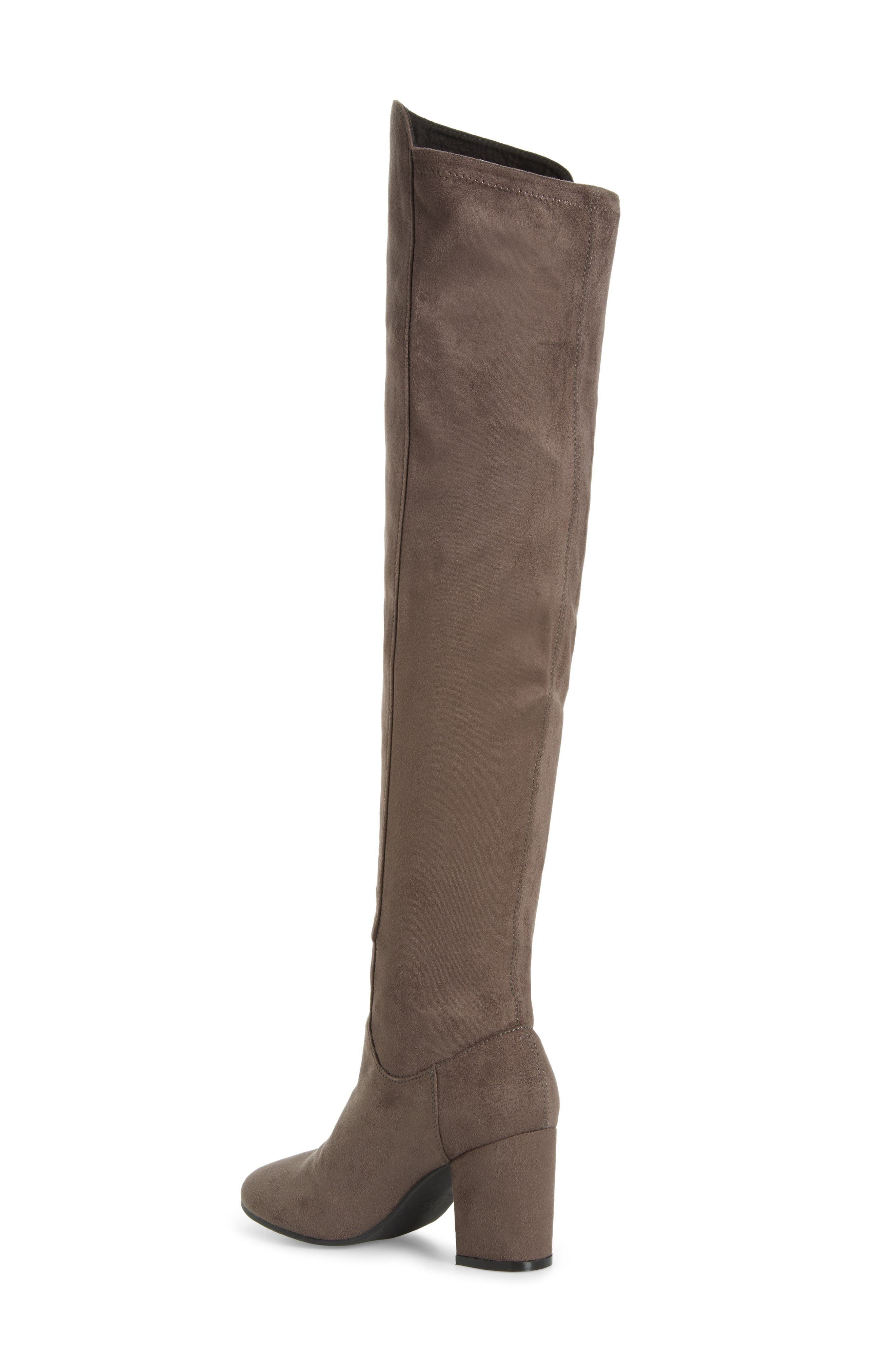 Lynx Stretch Over the Knee Boot,                             Alternate thumbnail 2, color,                             Charcoal Faux Suede