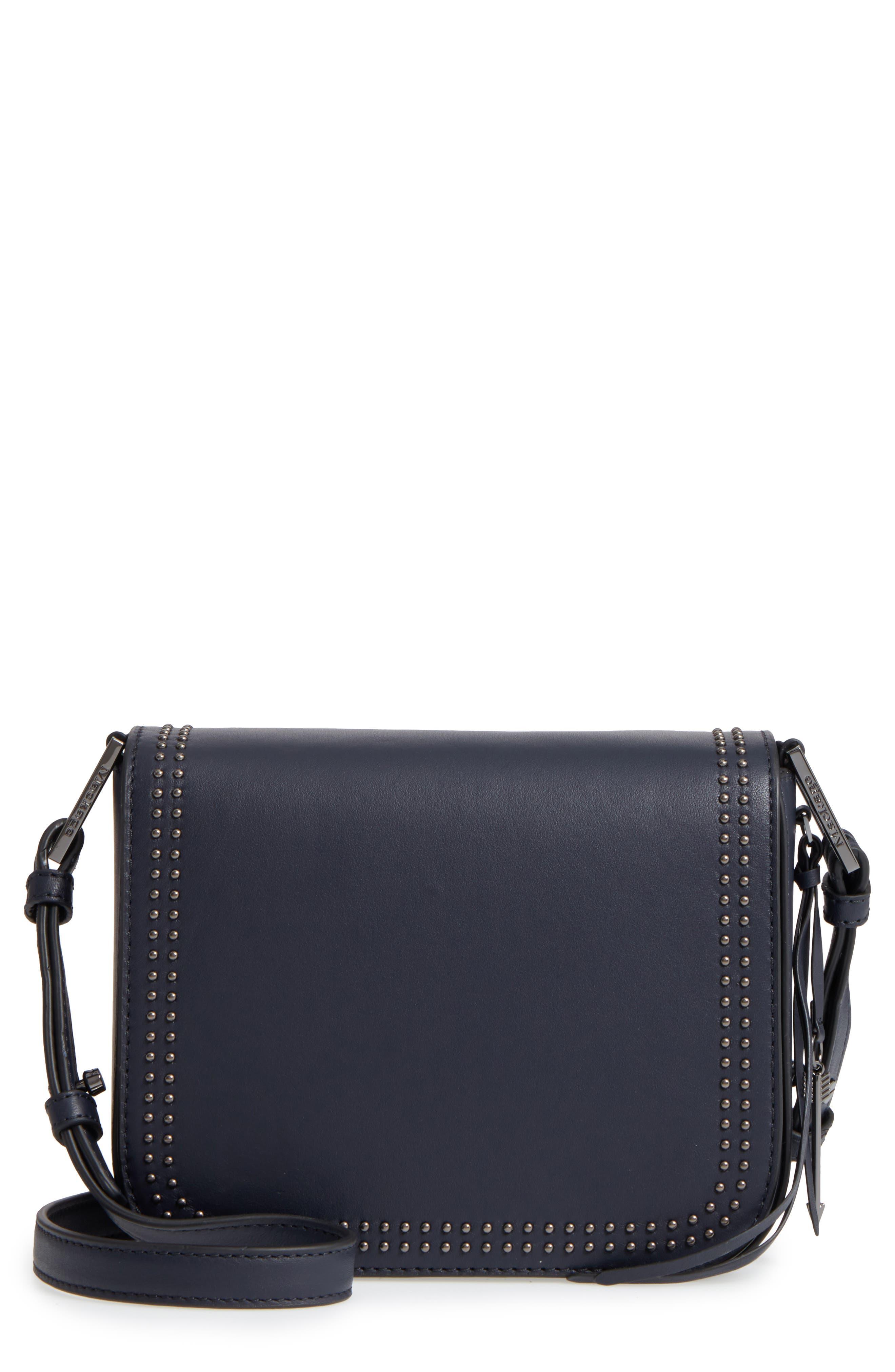 Dion Nappa Leather Crossbody Bag,                             Main thumbnail 1, color,                             Ink