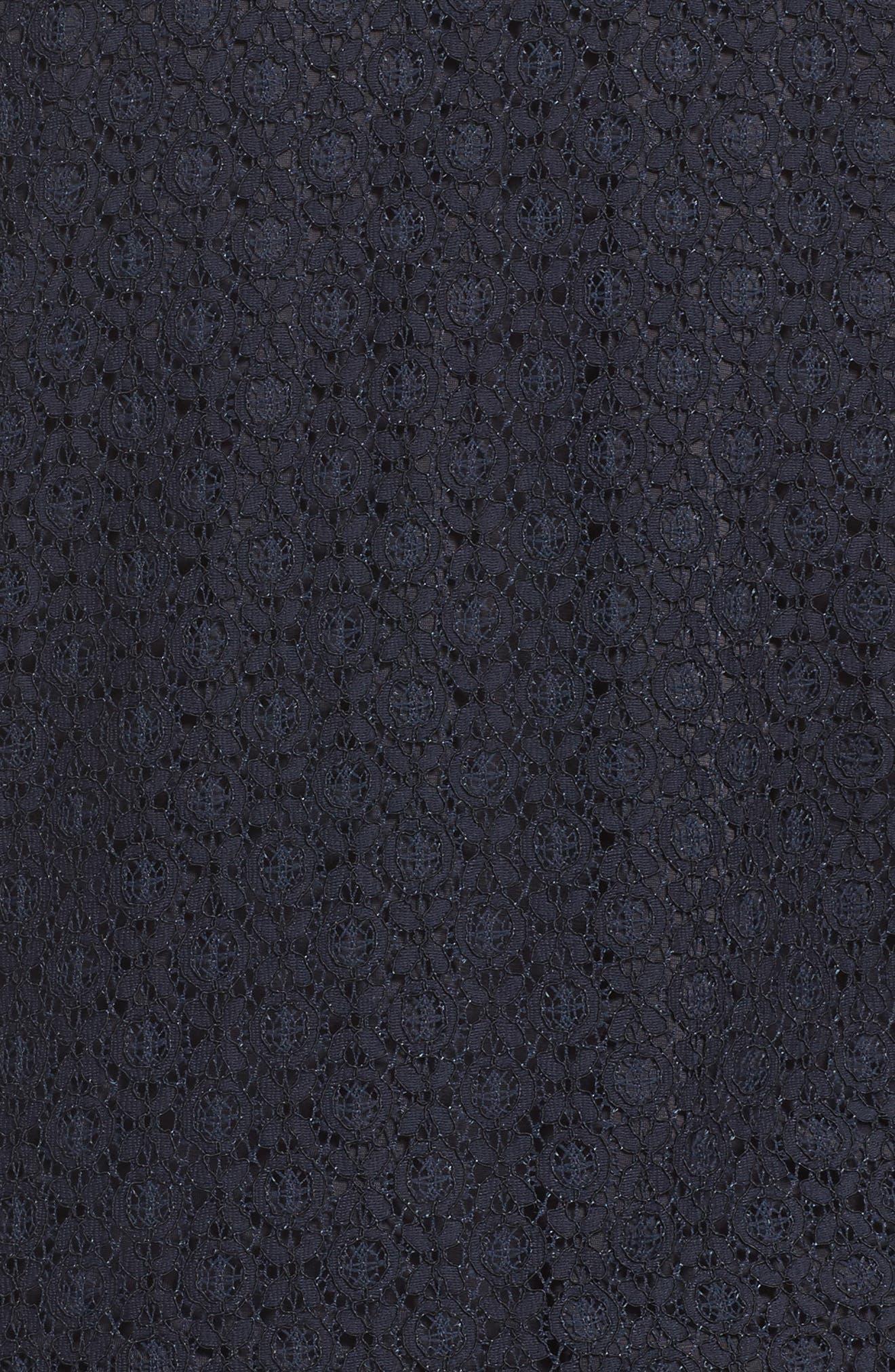 Okay Lace Panel Jacket,                             Alternate thumbnail 5, color,                             Dark Navy