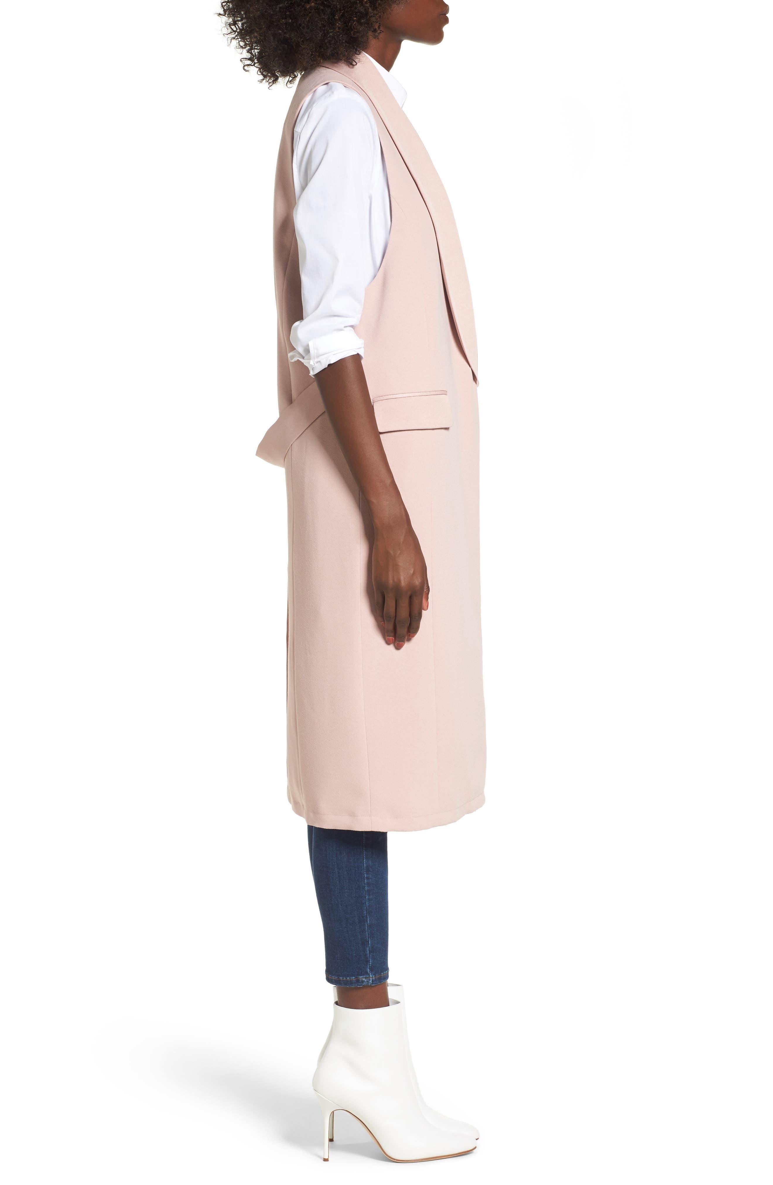 Tuxedo Vest,                             Alternate thumbnail 3, color,                             Pink Adobe