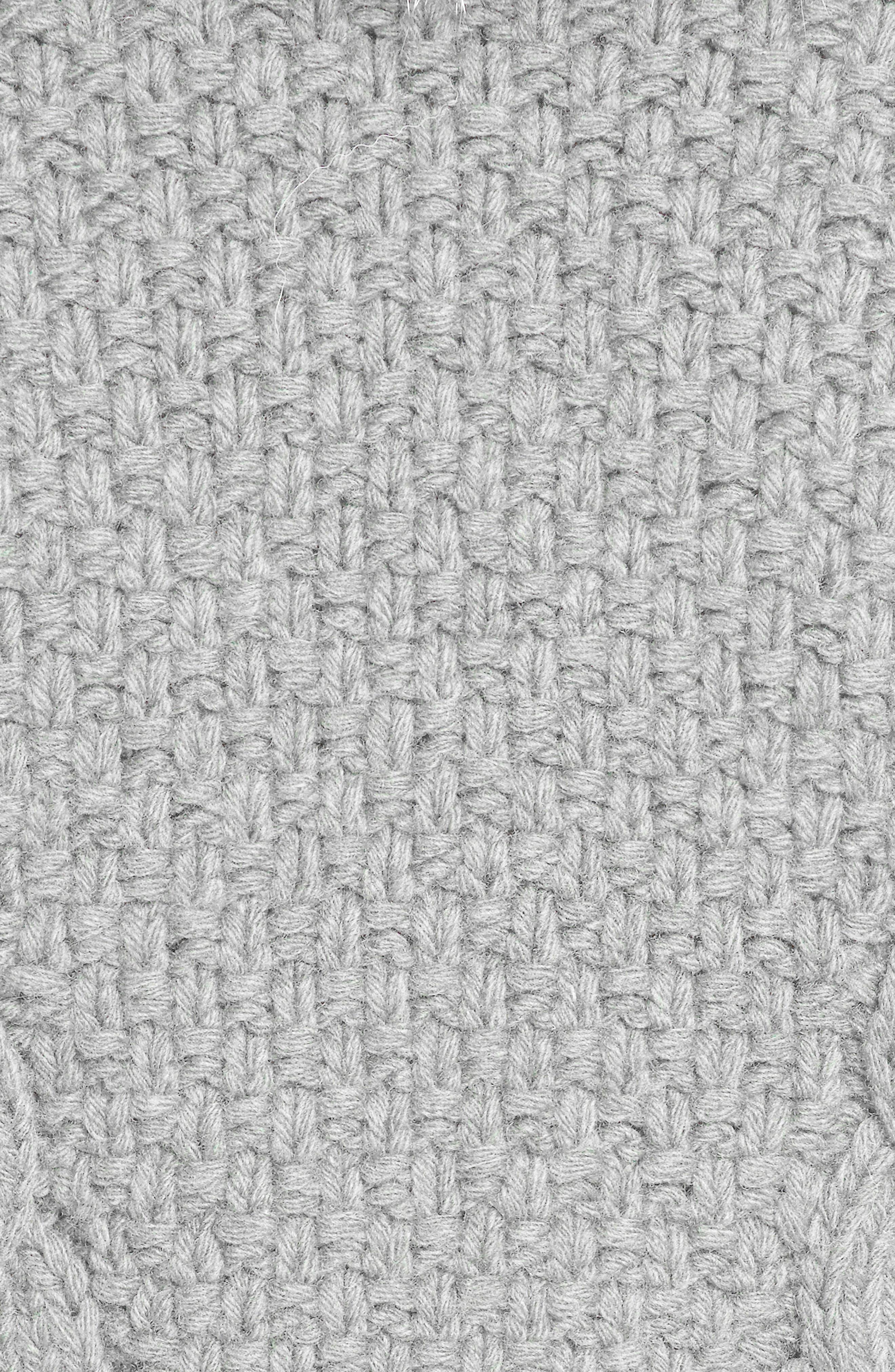 Merino Wool & Cashmere Knit Bolero with Removable Genuine Fox Fur Collar,                             Alternate thumbnail 4, color,                             Grey
