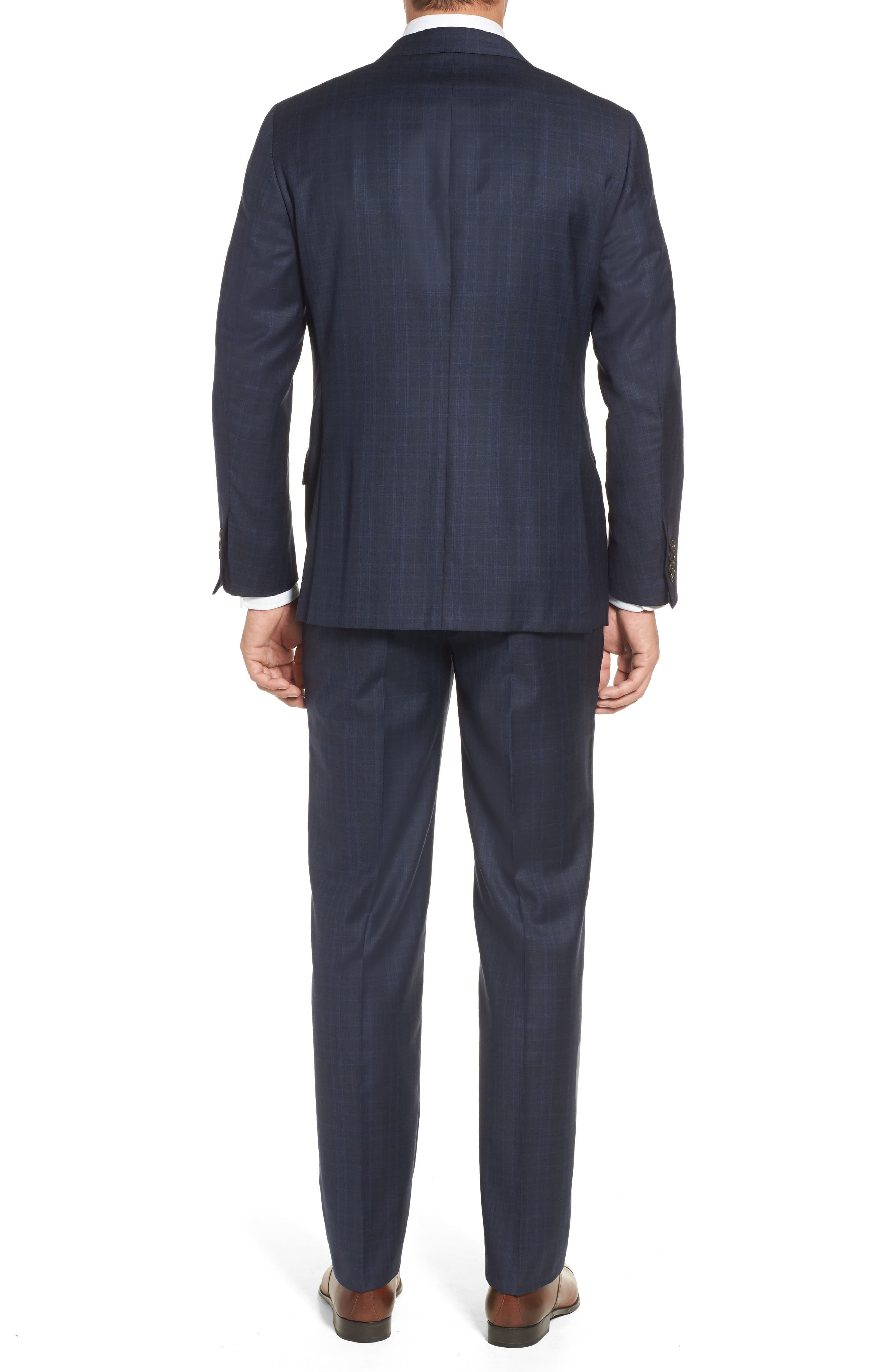 Alternate Image 2  - Hickey Freeman Classic B Fit Plaid Wool Suit