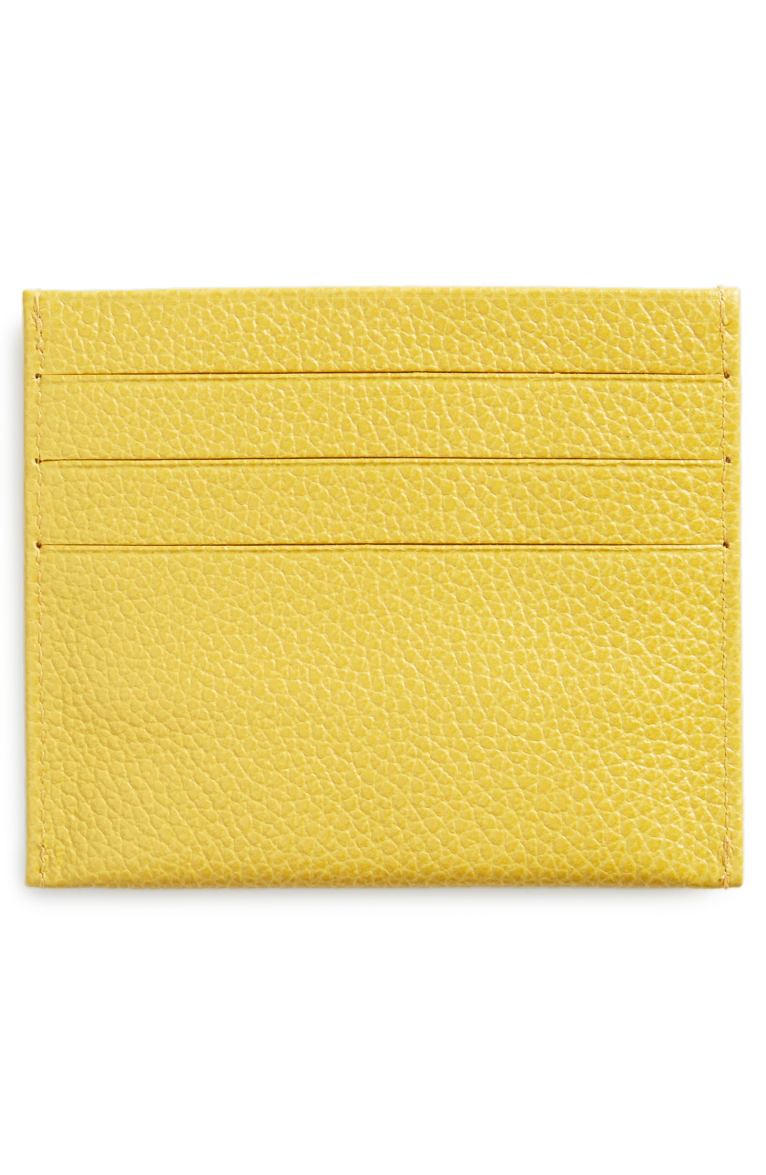 Alternate Image 2  - Longchamp 'Le Foulonne' Pebbled Leather Card Holder