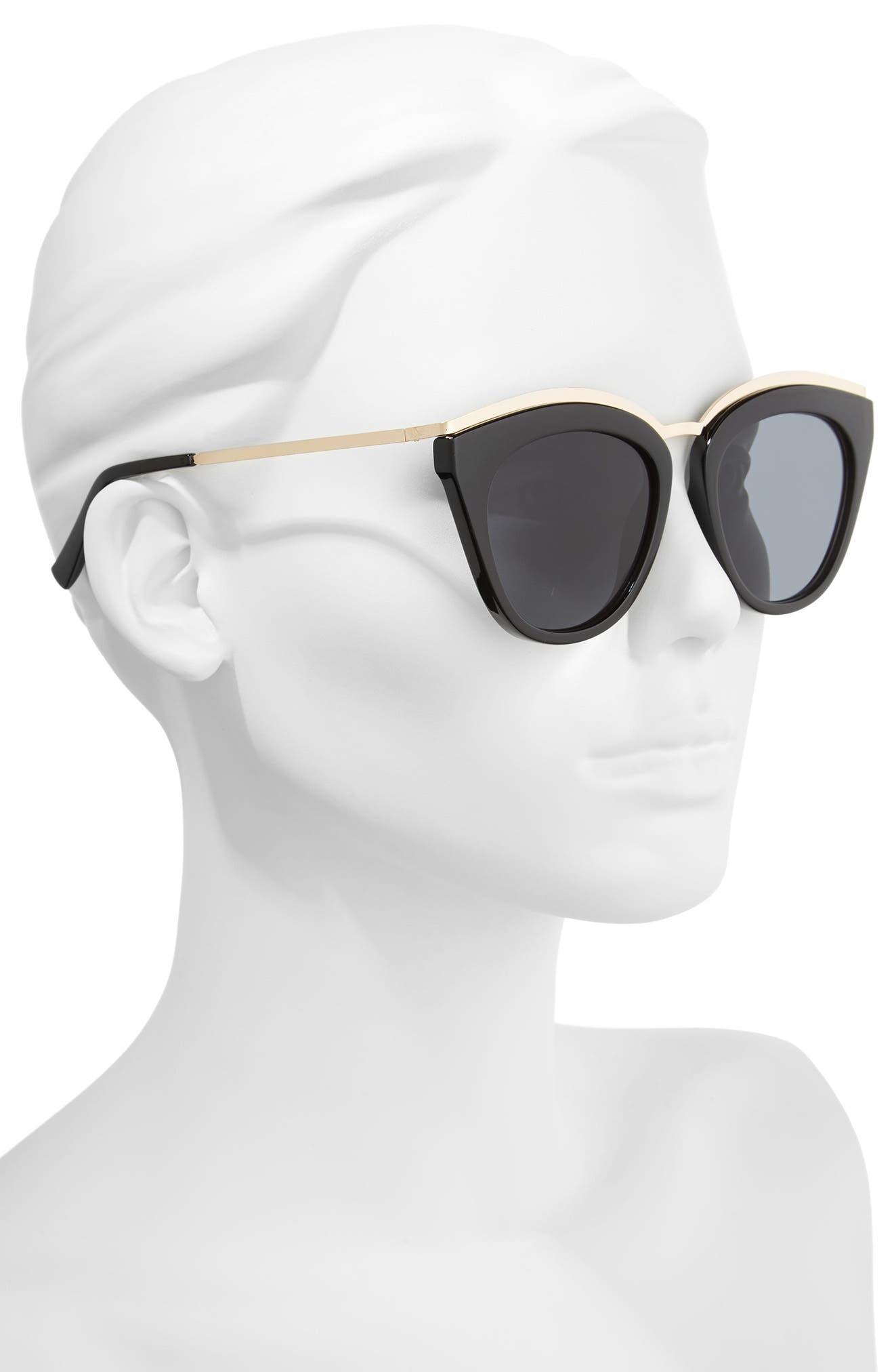 Eye Slay 52mm Cat Eye Sunglasses,                             Alternate thumbnail 2, color,                             Black