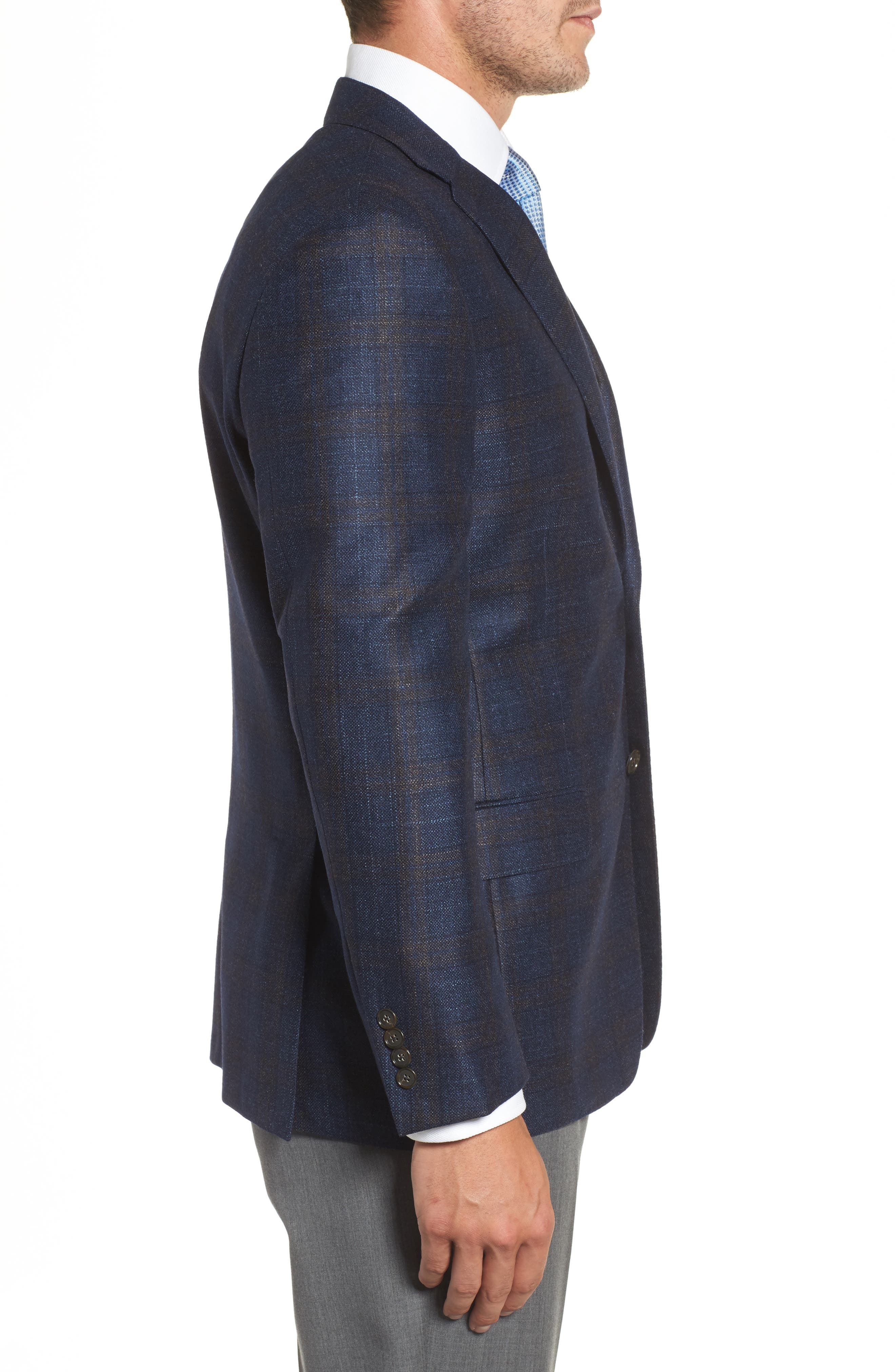 Alternate Image 3  - Hickey Freeman Classic B Fit Plaid Wool Blend Sport Coat