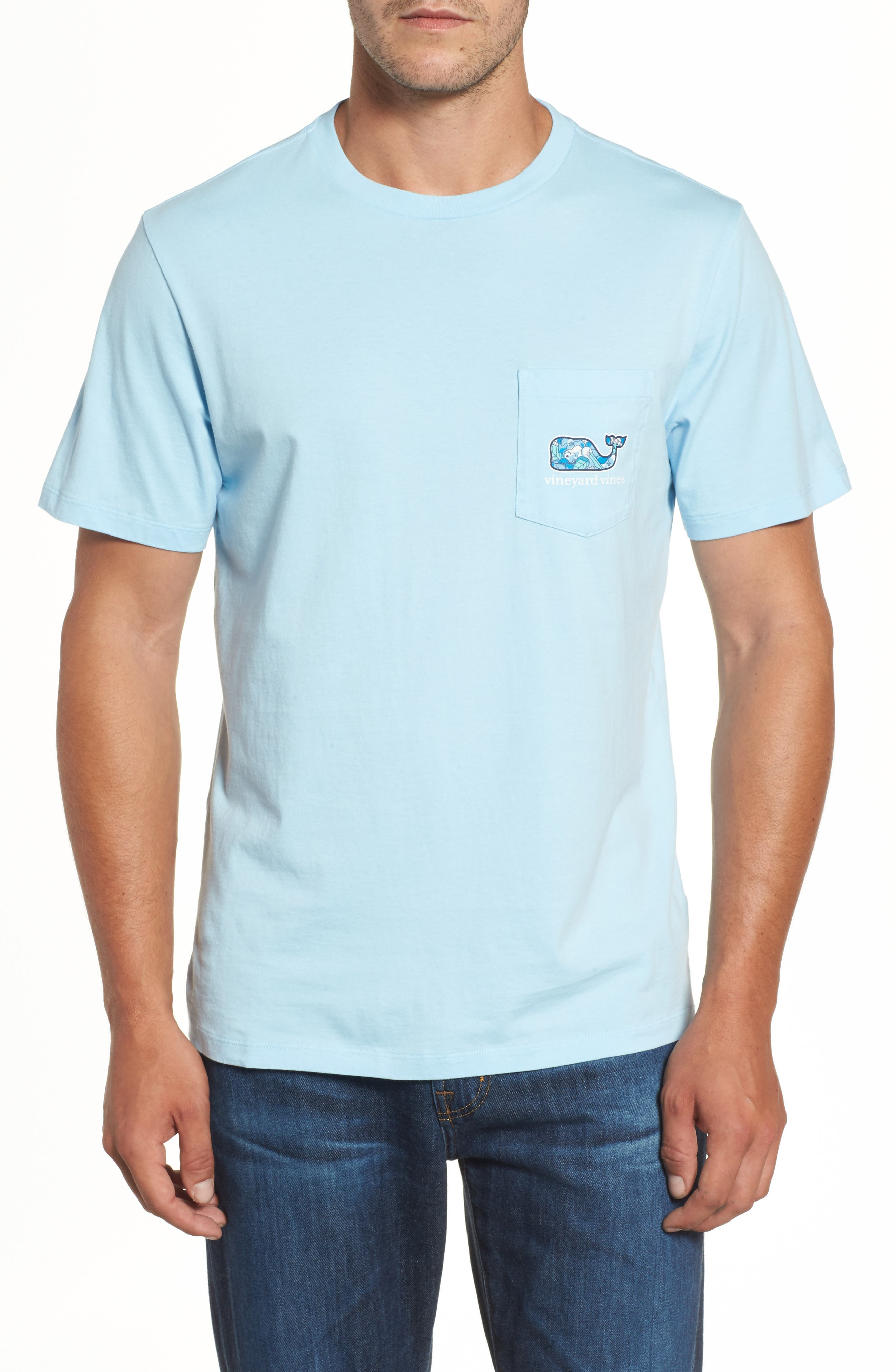 Pelican Magnolias Graphic T-Shirt,                             Alternate thumbnail 2, color,                             Airy Blue