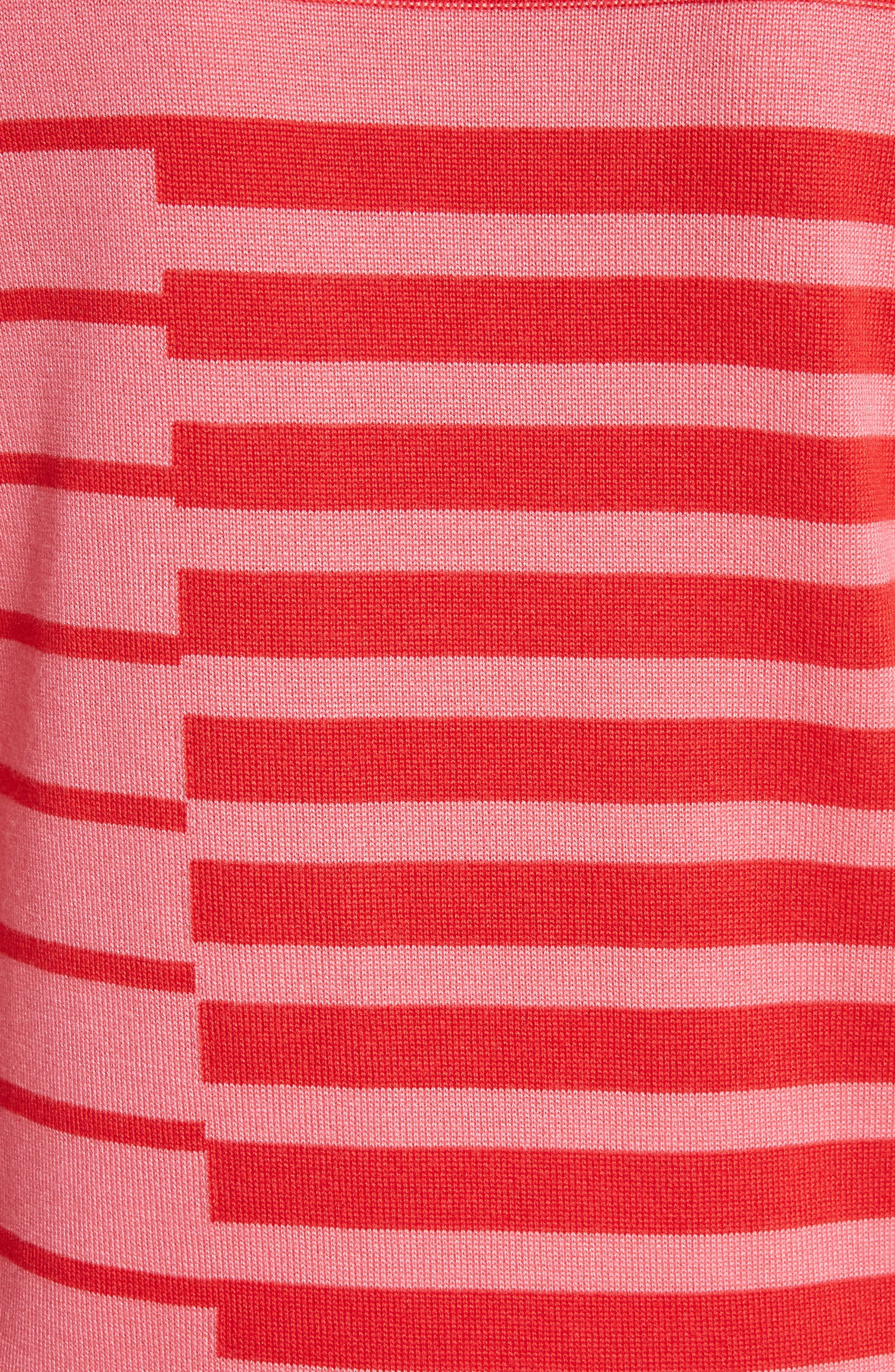 Alternate Image 6  - St. John Collection Intarsia Stripe Sweater