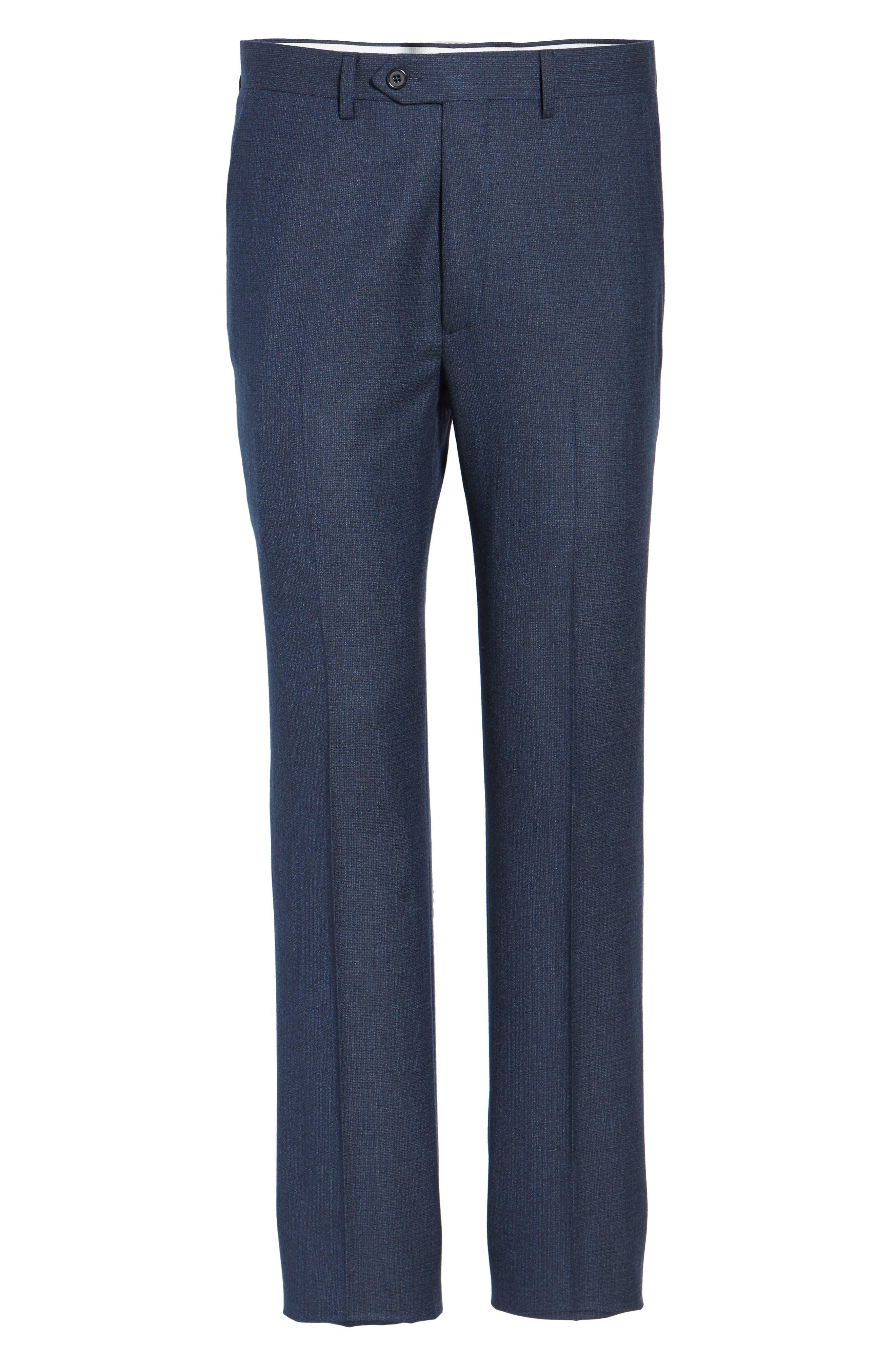 Alternate Image 6  - Santorelli Romero Regular Fit Flat Front Trousers