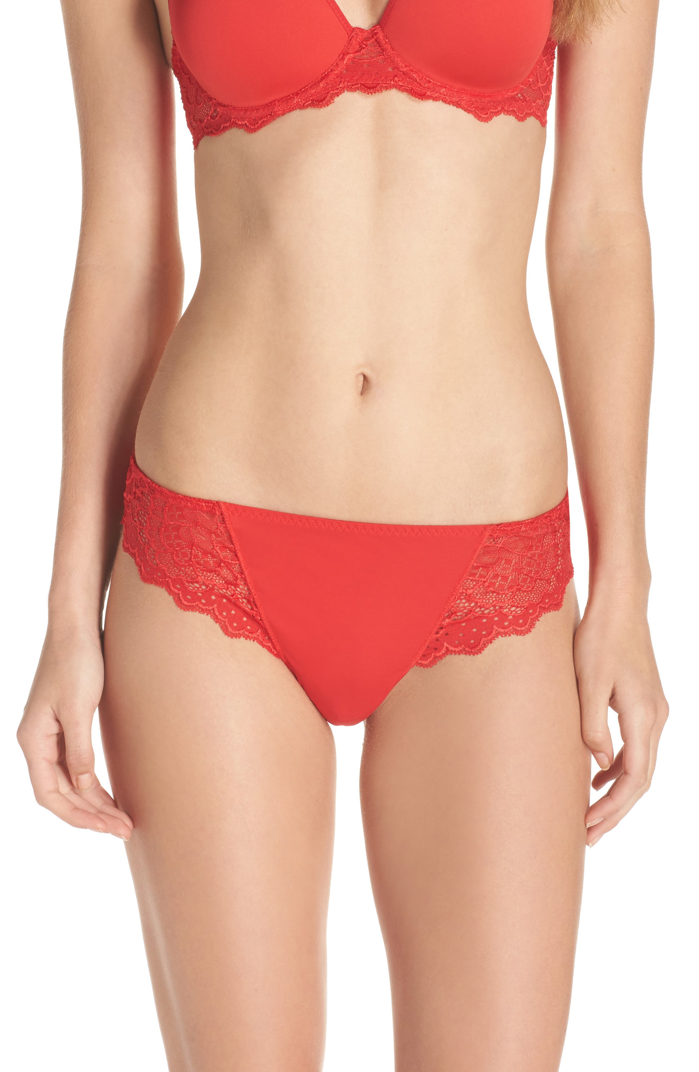Alternate Image 1 Selected - Simone Perele 'Caresse' Lace Tanga Briefs
