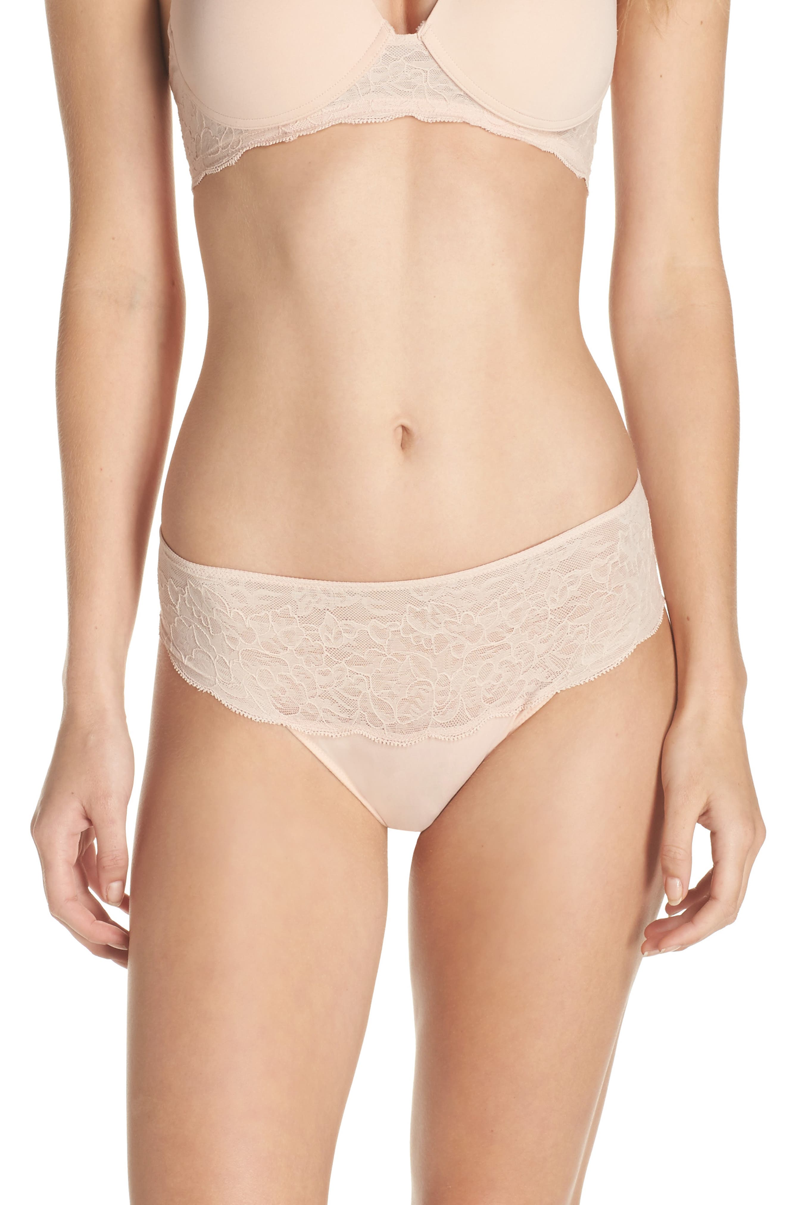Retouch Thong,                         Main,                         color, Cameo Rose