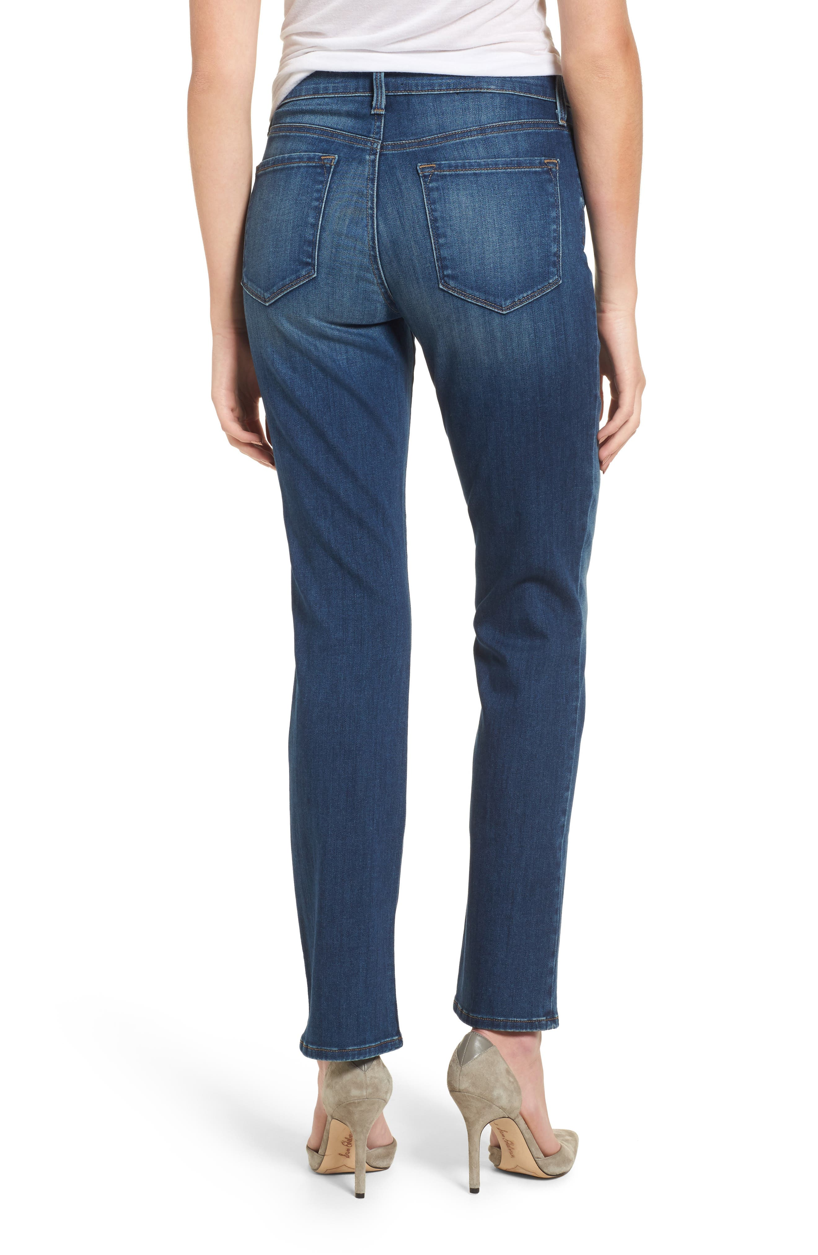 Alternate Image 2  - NYDJ Marilyn Stretch Straight Leg Jeans (Anson)