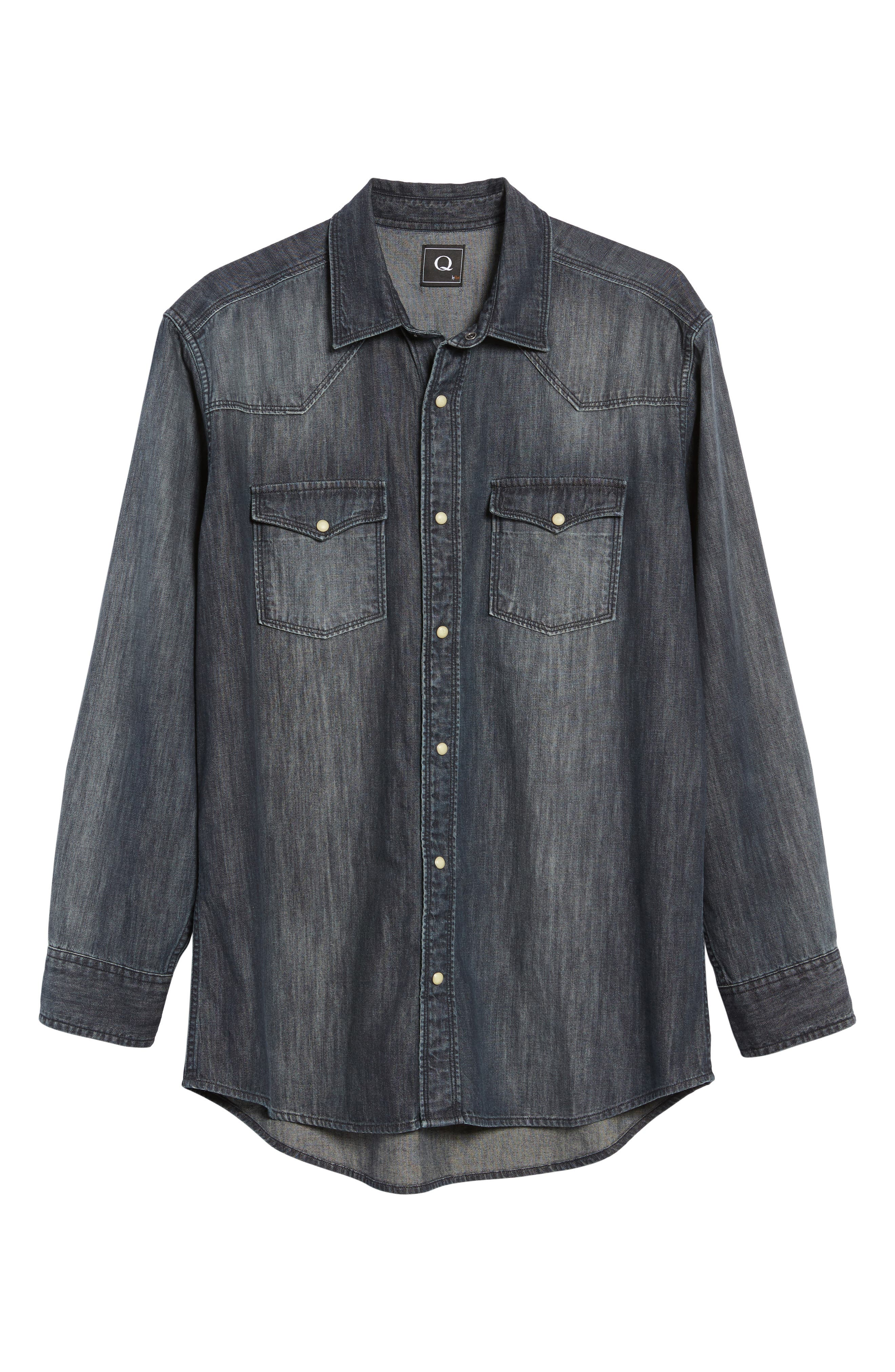 Alternate Image 6  - FLYNT Regular Fit Denim Western Shirt