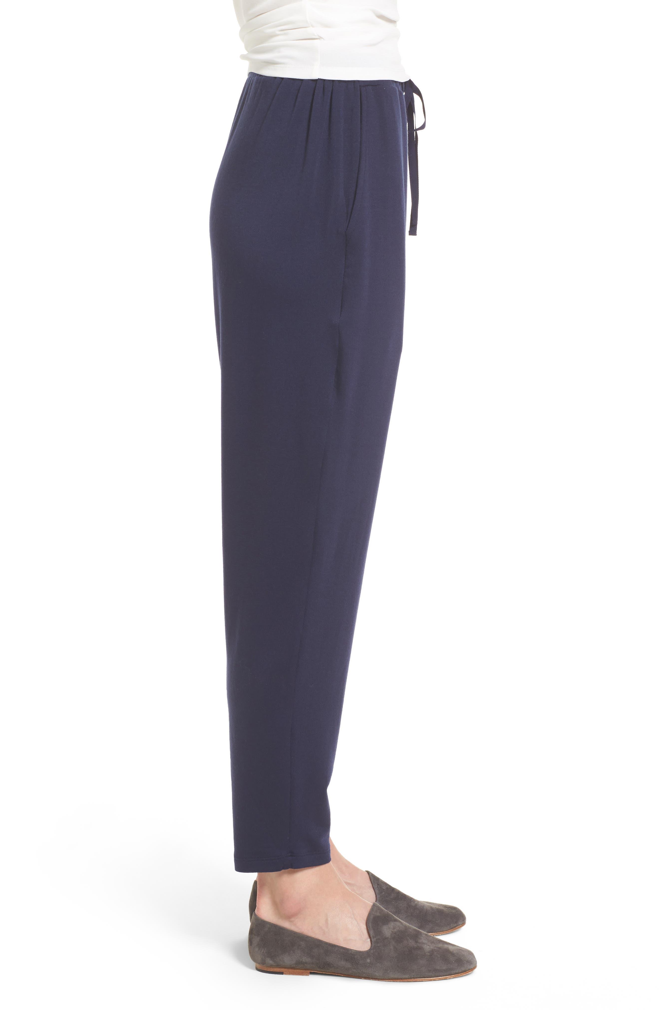 Alternate Image 3  - Eileen Fisher Drawstring Waist Knit Pants (Regular & Petite)