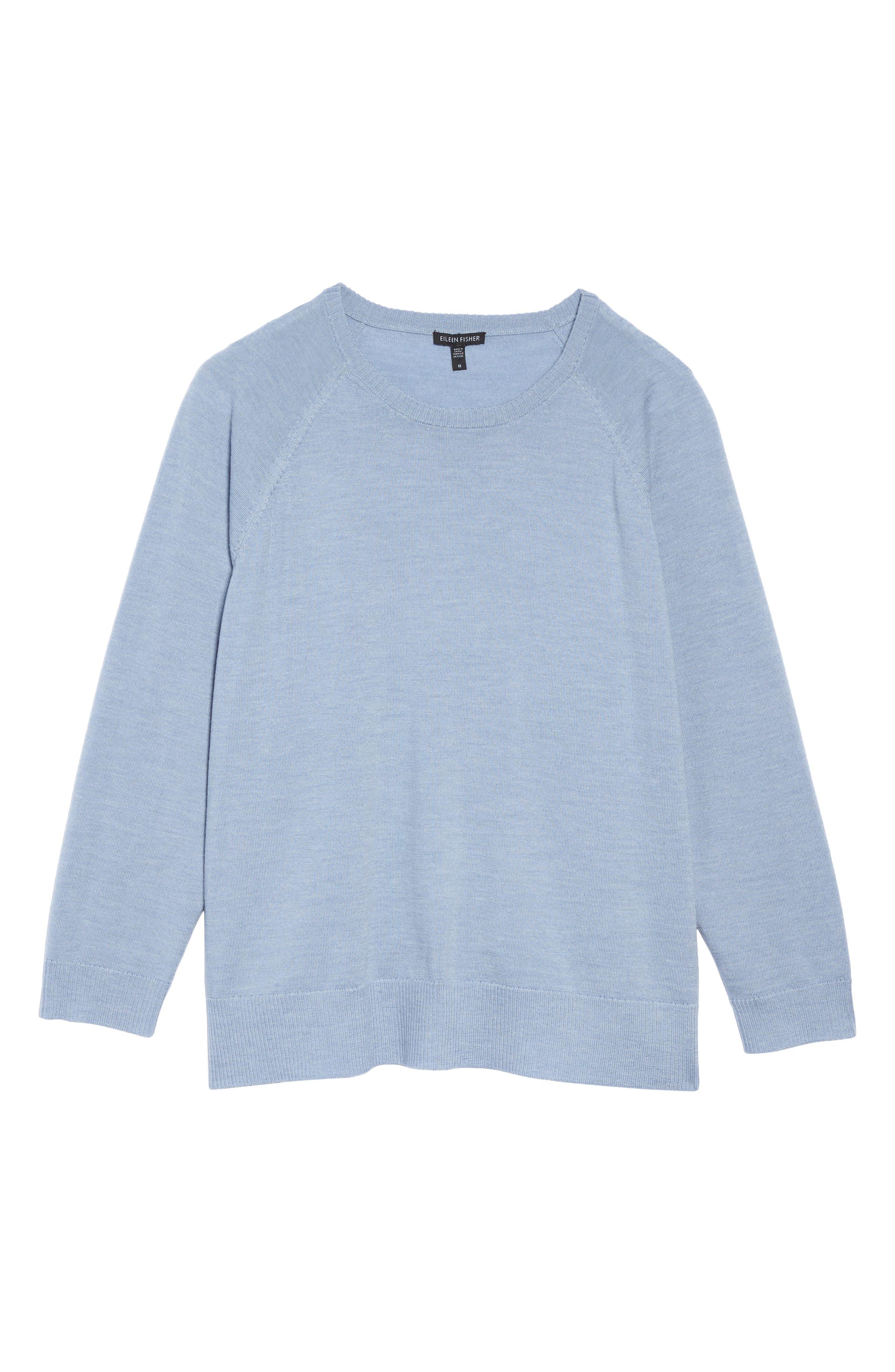 Eileen Fisher Round Neck Merino Sweater (Plus Size)
