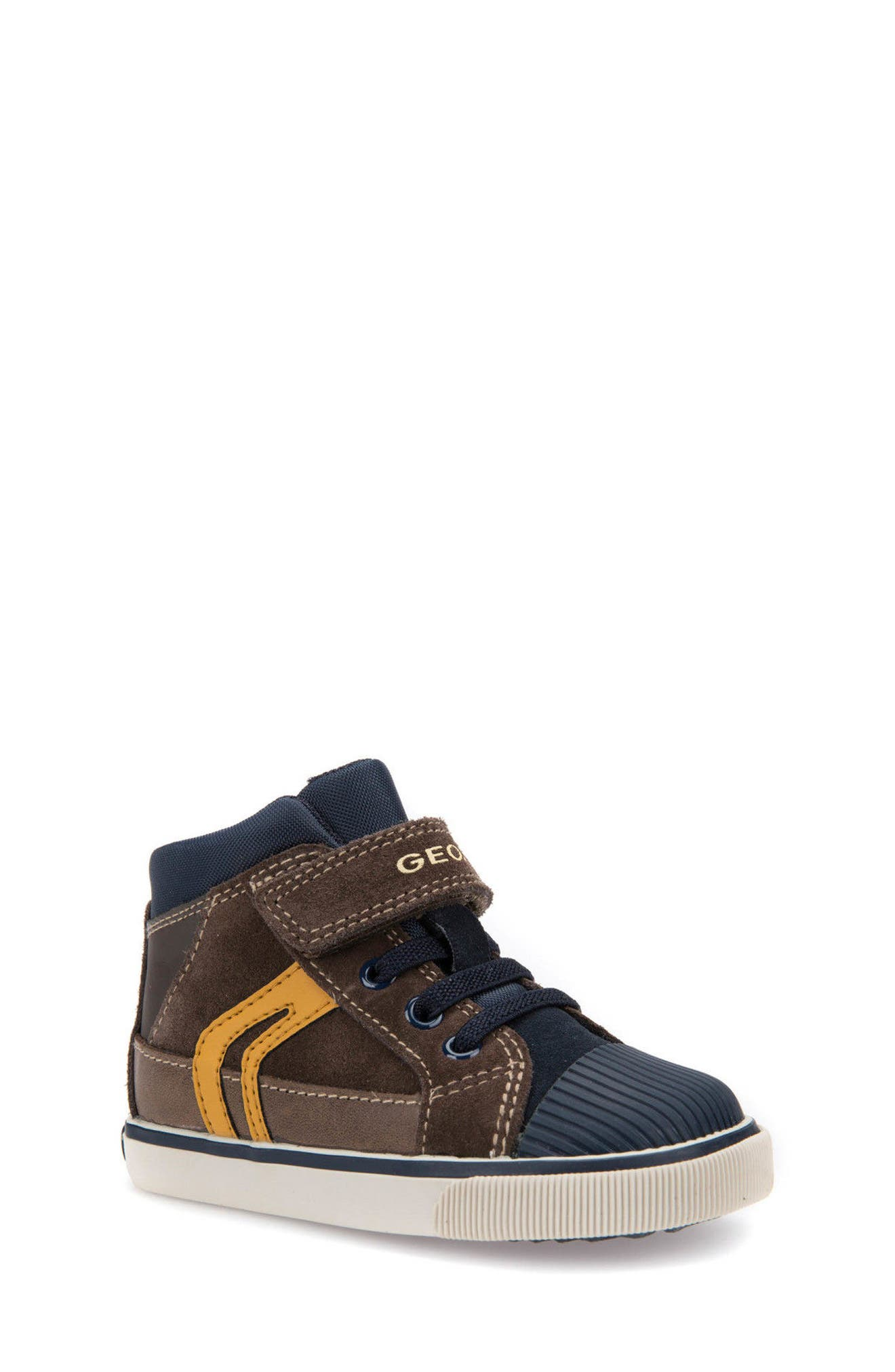 'Kiwi' High Top Sneaker,                             Main thumbnail 1, color,                             Chestnut/ Navy