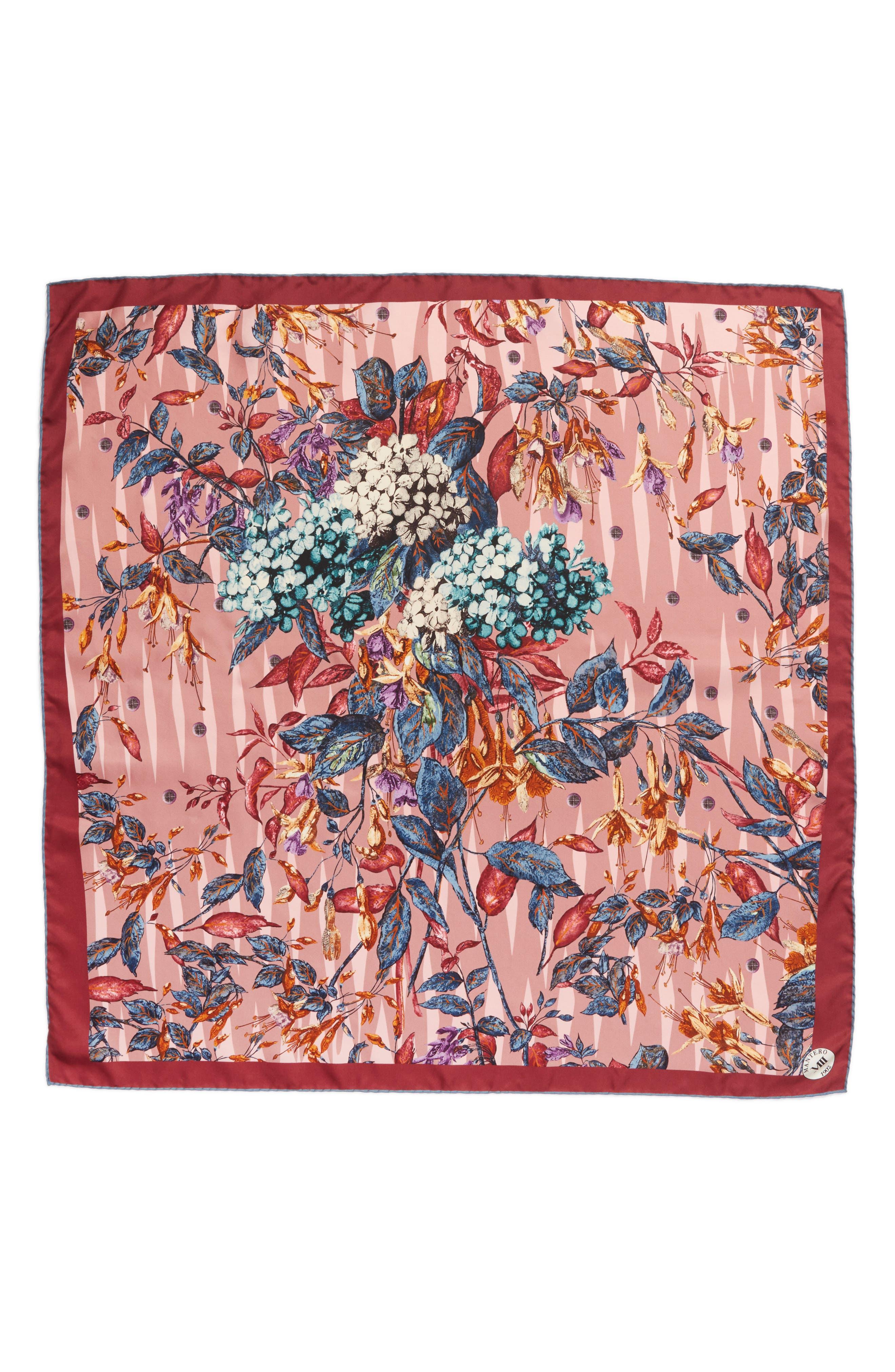 Alternate Image 1 Selected - MANTERO Tra le Righe Square Silk Scarf