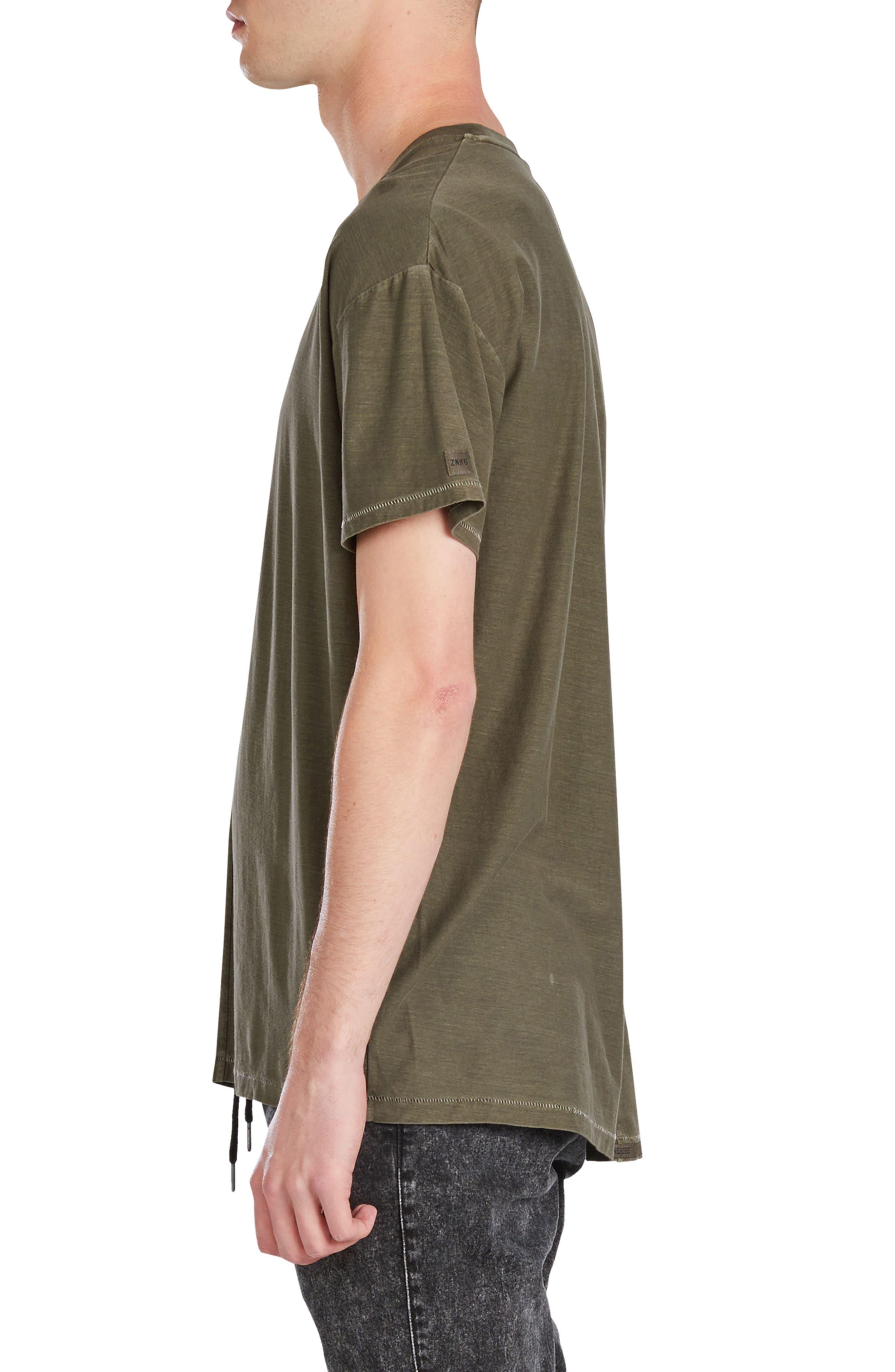 Split Rugger T-Shirt,                             Alternate thumbnail 3, color,                             Peat