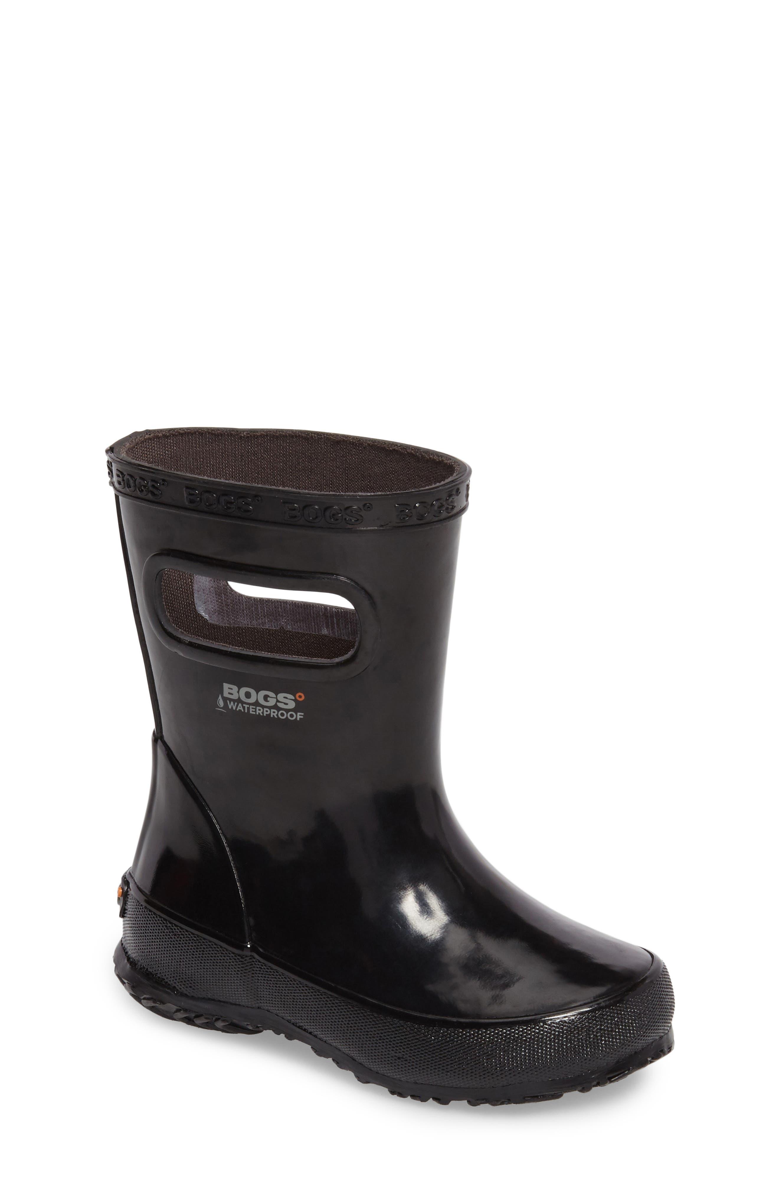 Skipper Rubber Rain Boot,                             Main thumbnail 1, color,                             Black