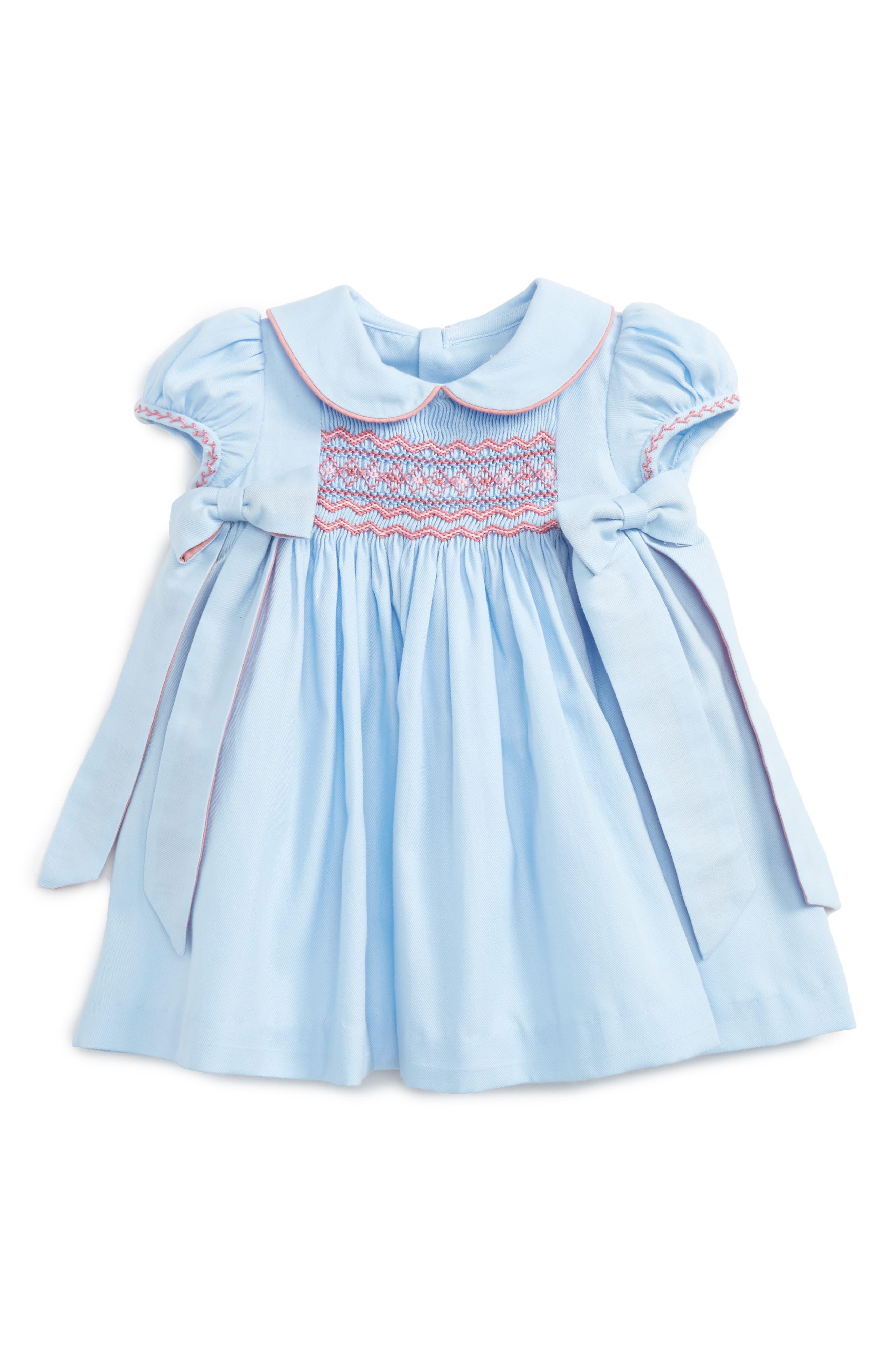 Charlotte Smocked Dress,                         Main,                         color, Blue