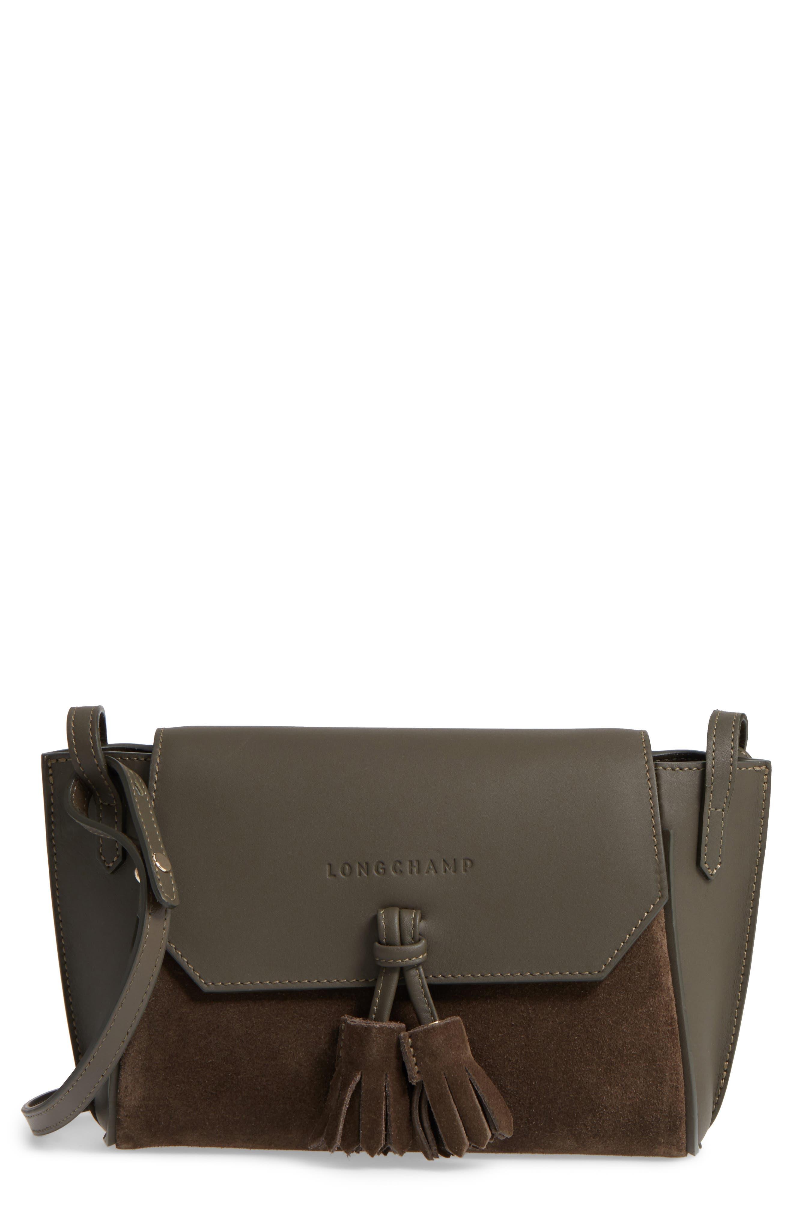 Alternate Image 1 Selected - Longchamp Small Penelope Leather Crossbody Bag