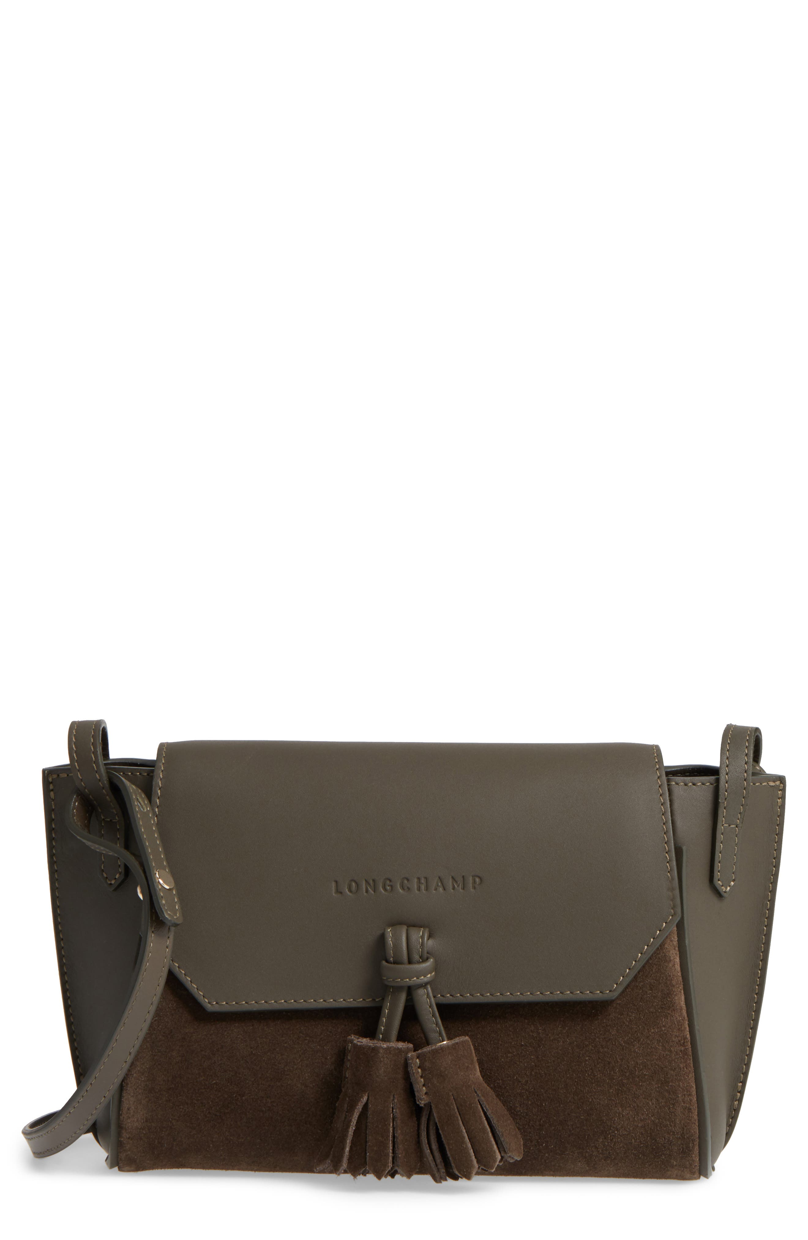 Main Image - Longchamp Small Penelope Leather Crossbody Bag