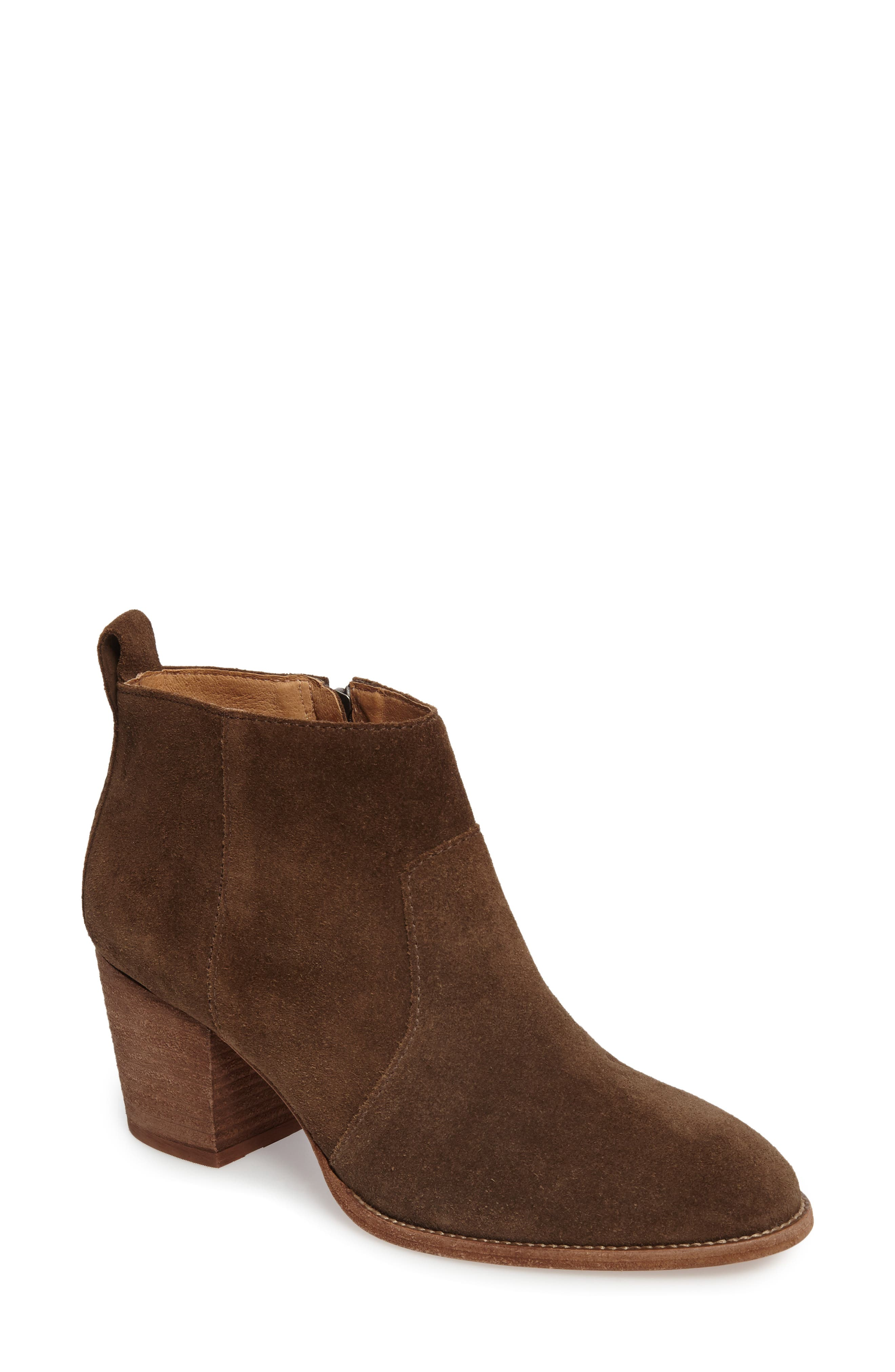 Brenner Bootie,                             Main thumbnail 1, color,                             Mink Suede