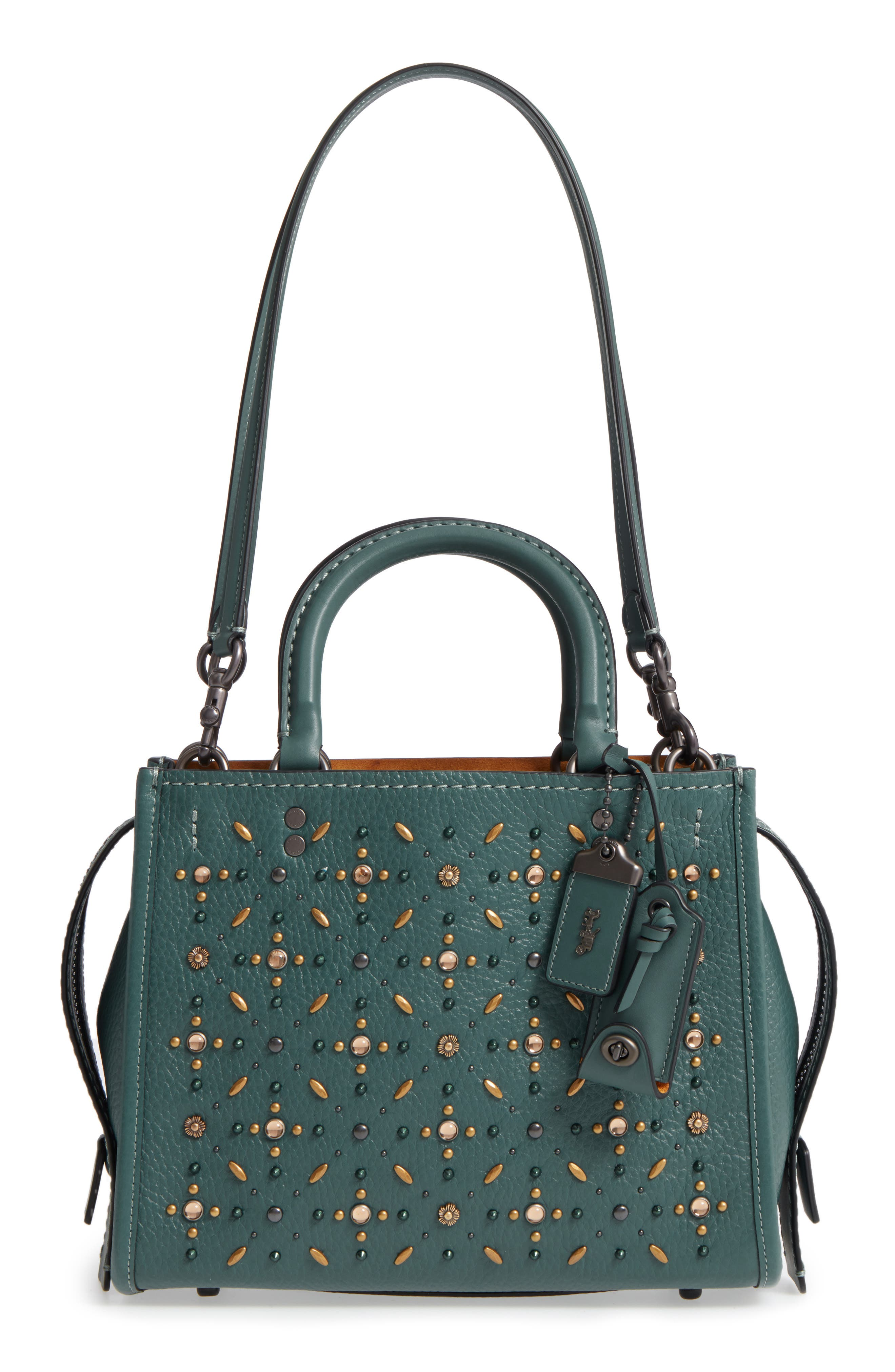 Alternate Image 1 Selected - COACH 1941 Rivets Rogue 25 Leather Satchel