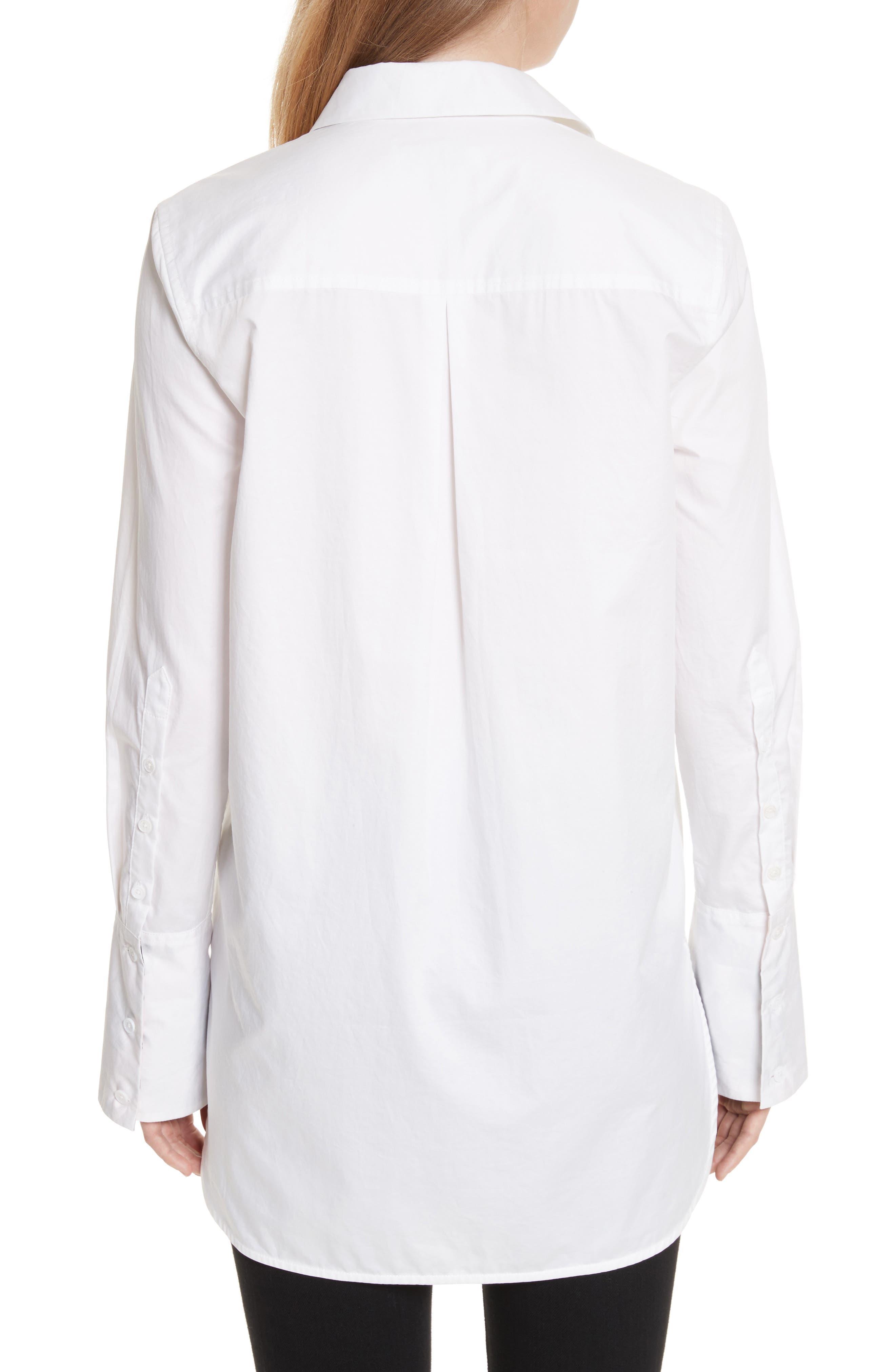 Arlette Cotton Shirt,                             Alternate thumbnail 2, color,                             Bright White