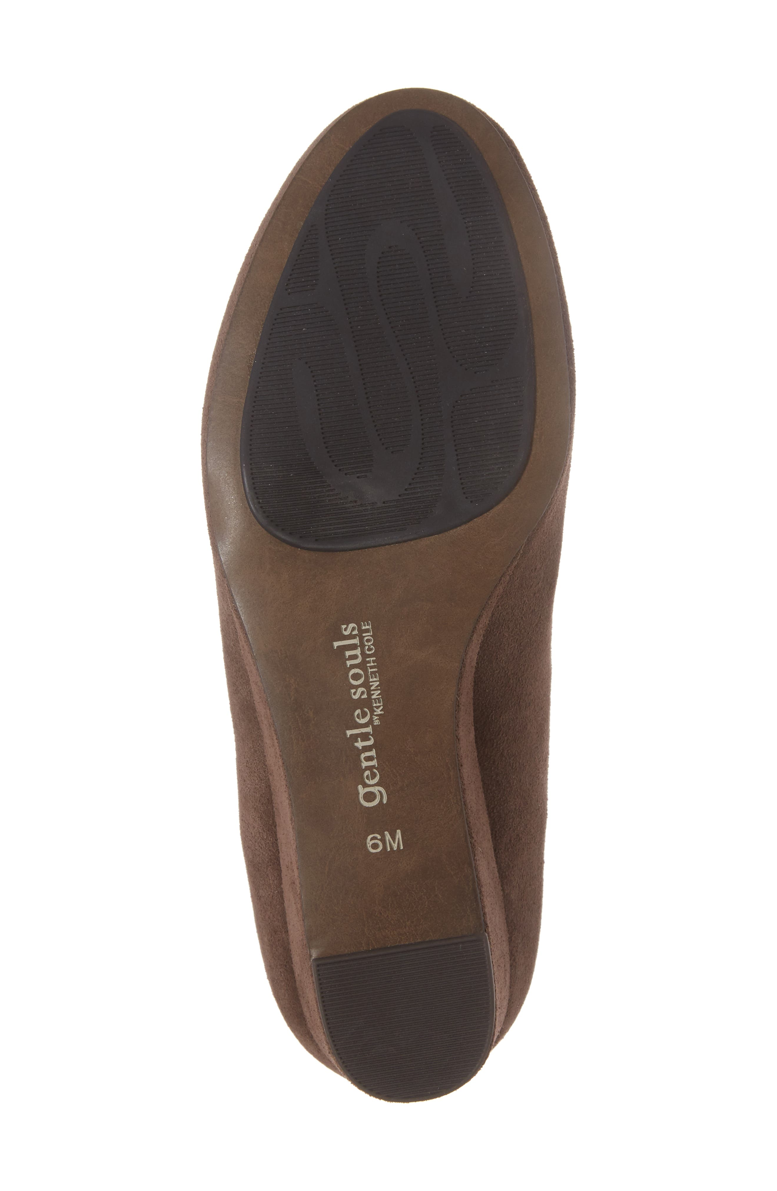 by Kenneth Cole Vicki Wedge Bootie,                             Alternate thumbnail 6, color,                             Dark Brown Suede