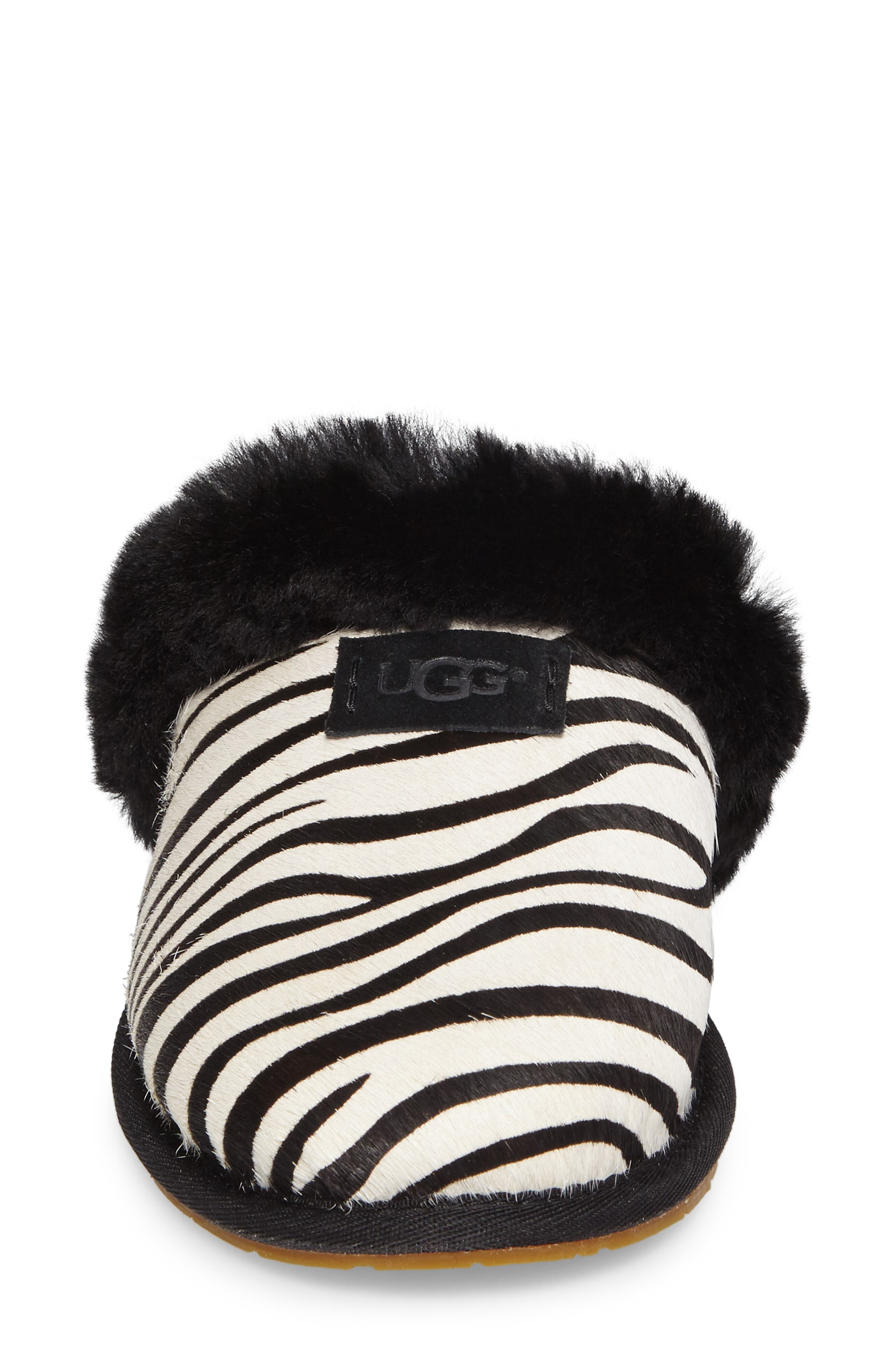 Alternate Image 4  - UGG® Australia Scuffette II - Exotic Genuine Calf Hair Slipper (Women)