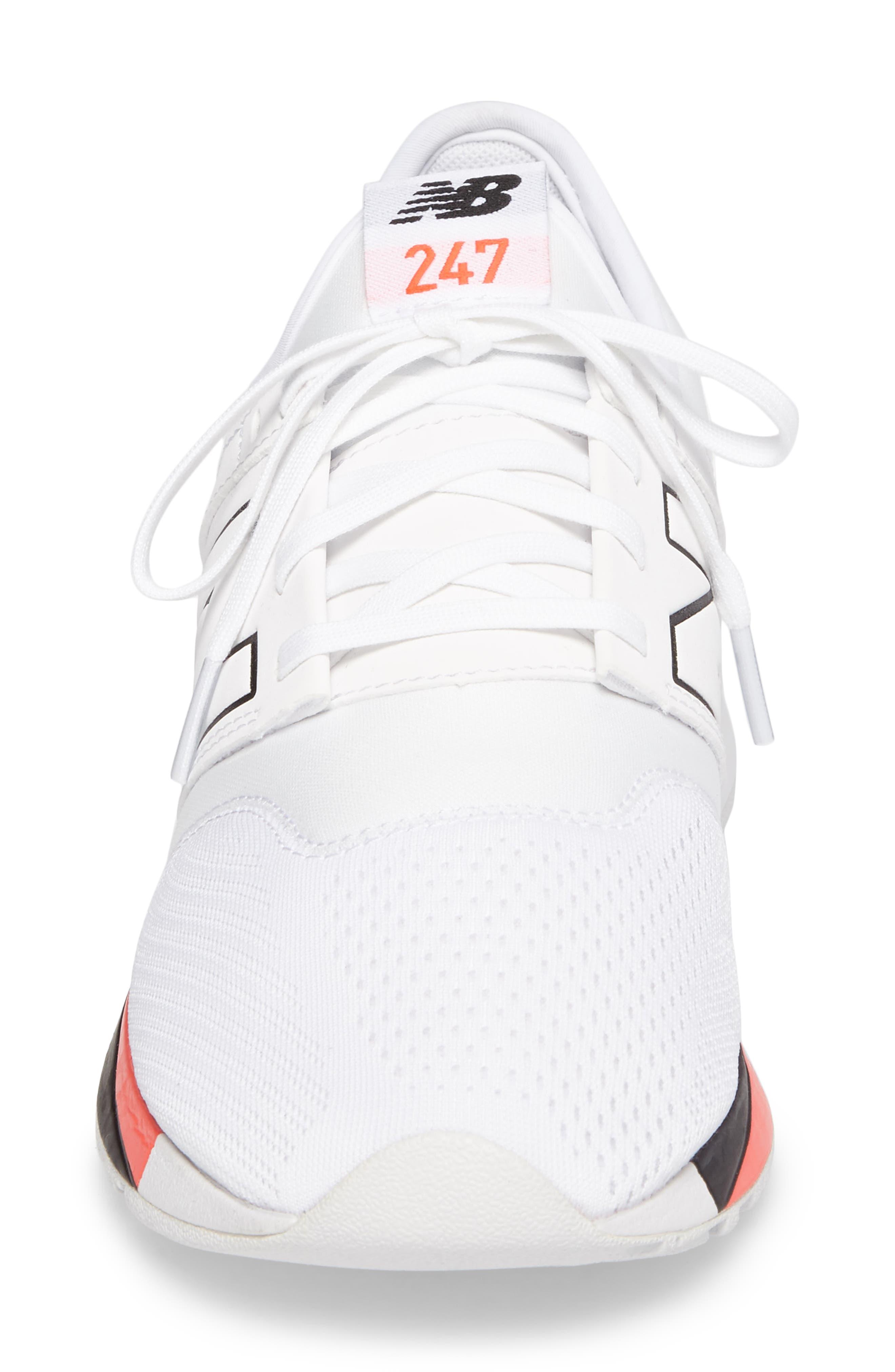 247 Classic Plus Sneaker,                             Alternate thumbnail 4, color,                             White