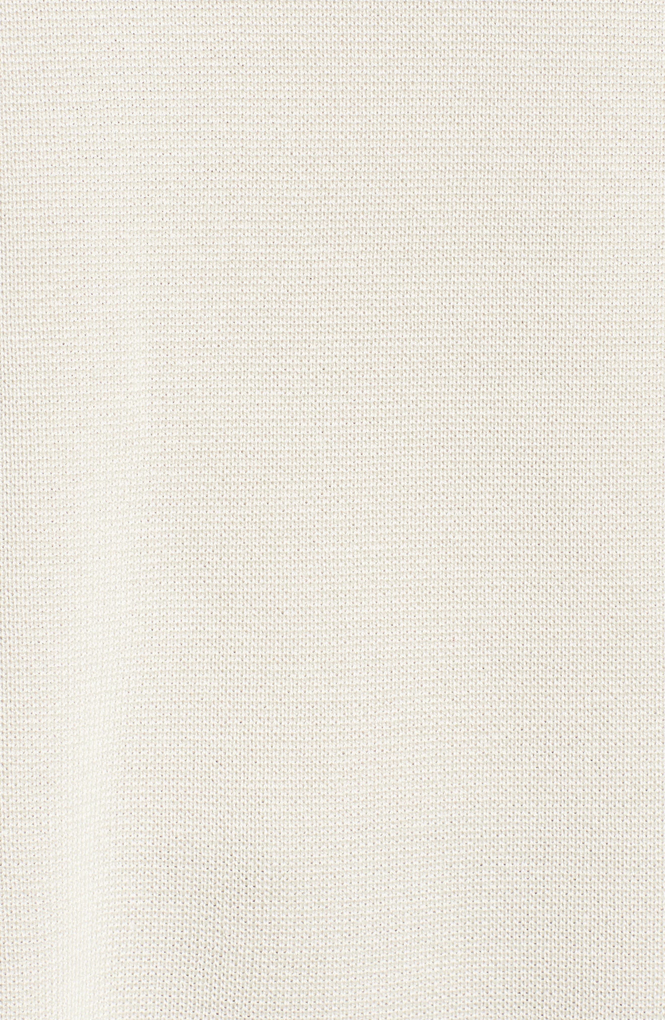 Mock Neck Box Silk & Organic Cotton Sweater,                             Alternate thumbnail 5, color,                             Bone