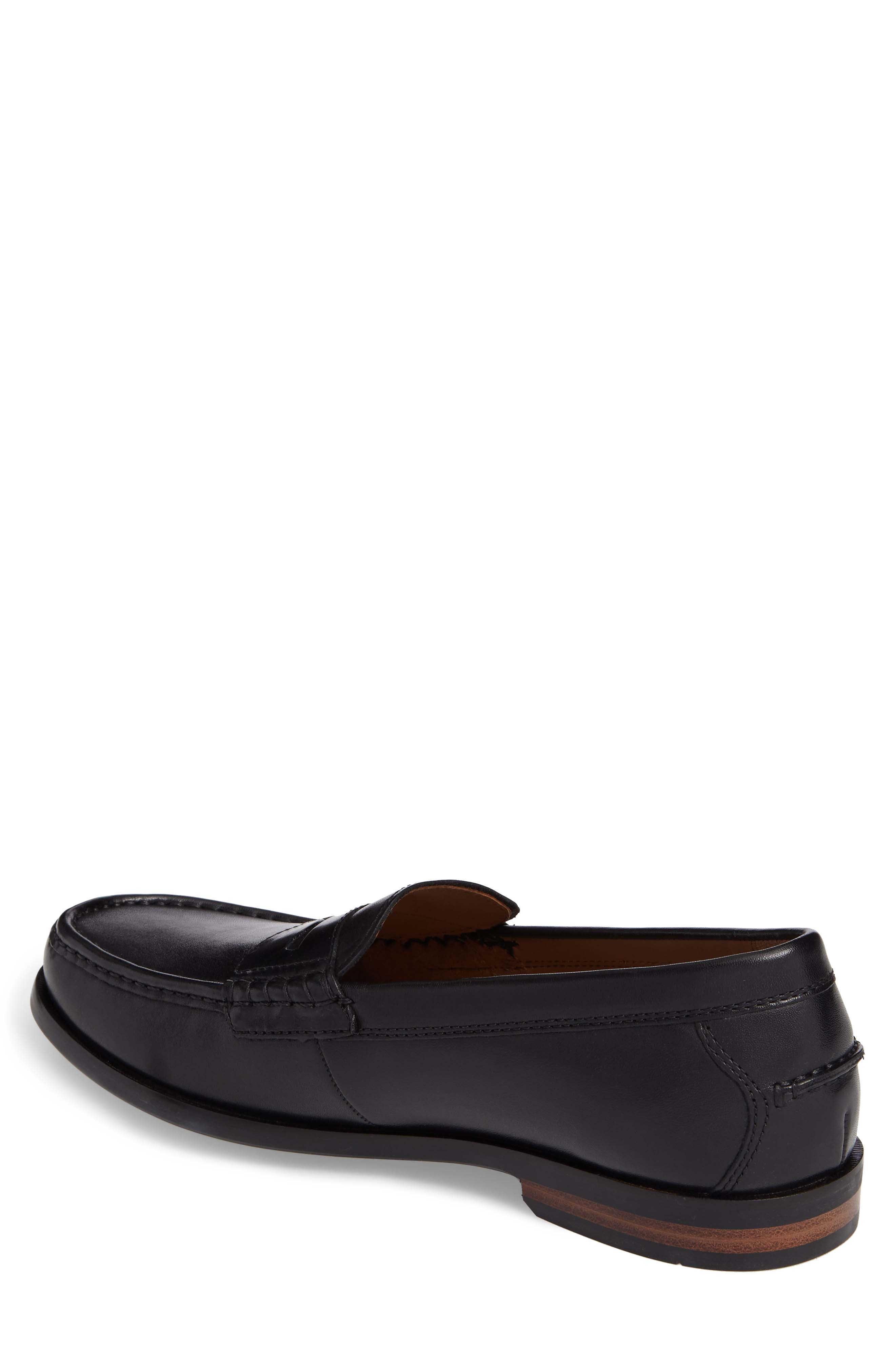 Pinch Friday Penny Loafer,                             Alternate thumbnail 2, color,                             Black Leather